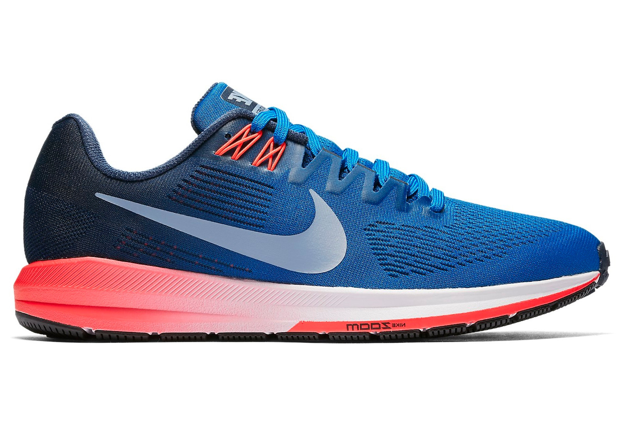 Chaussures de Running Nike Air Zoom Structure 21 Bleu   Rose ... f4ab83b7e4a