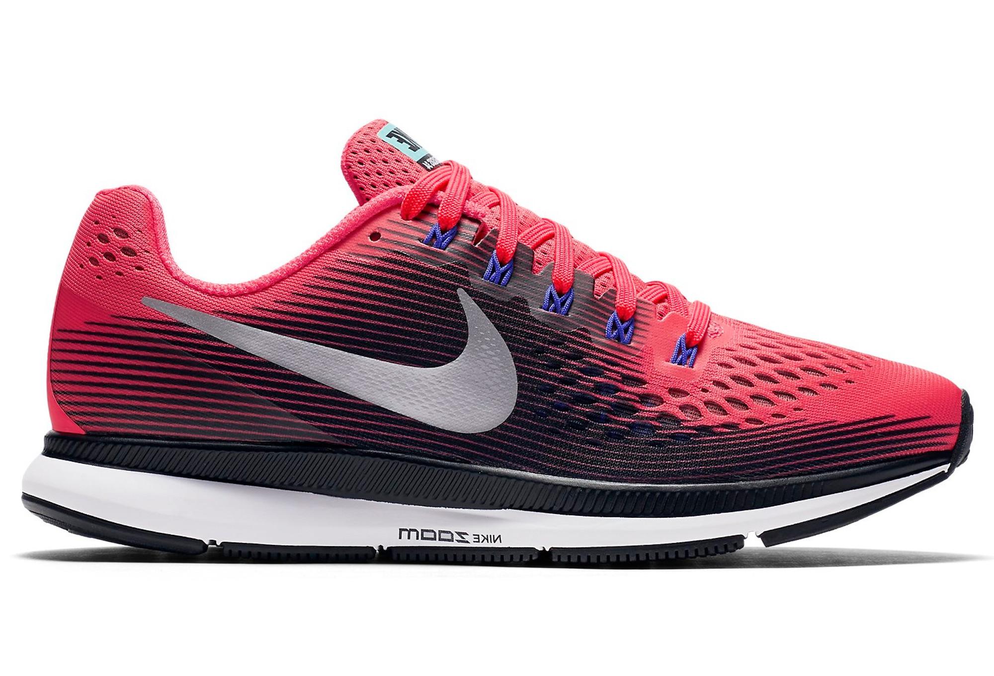 e8890c8a34f2f Zapatillas Nike Air Zoom Pegasus 34 para Mujer Rosa   Negro