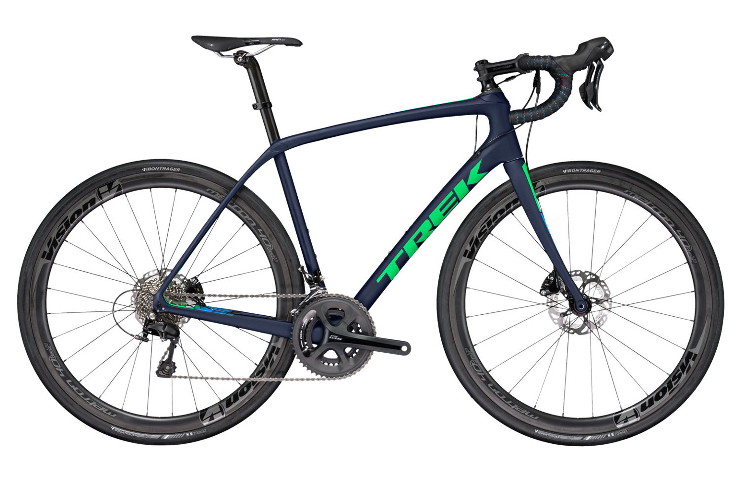 v lo de route trek domane sl 5 shimano 105 11v 2017 bleu vert. Black Bedroom Furniture Sets. Home Design Ideas