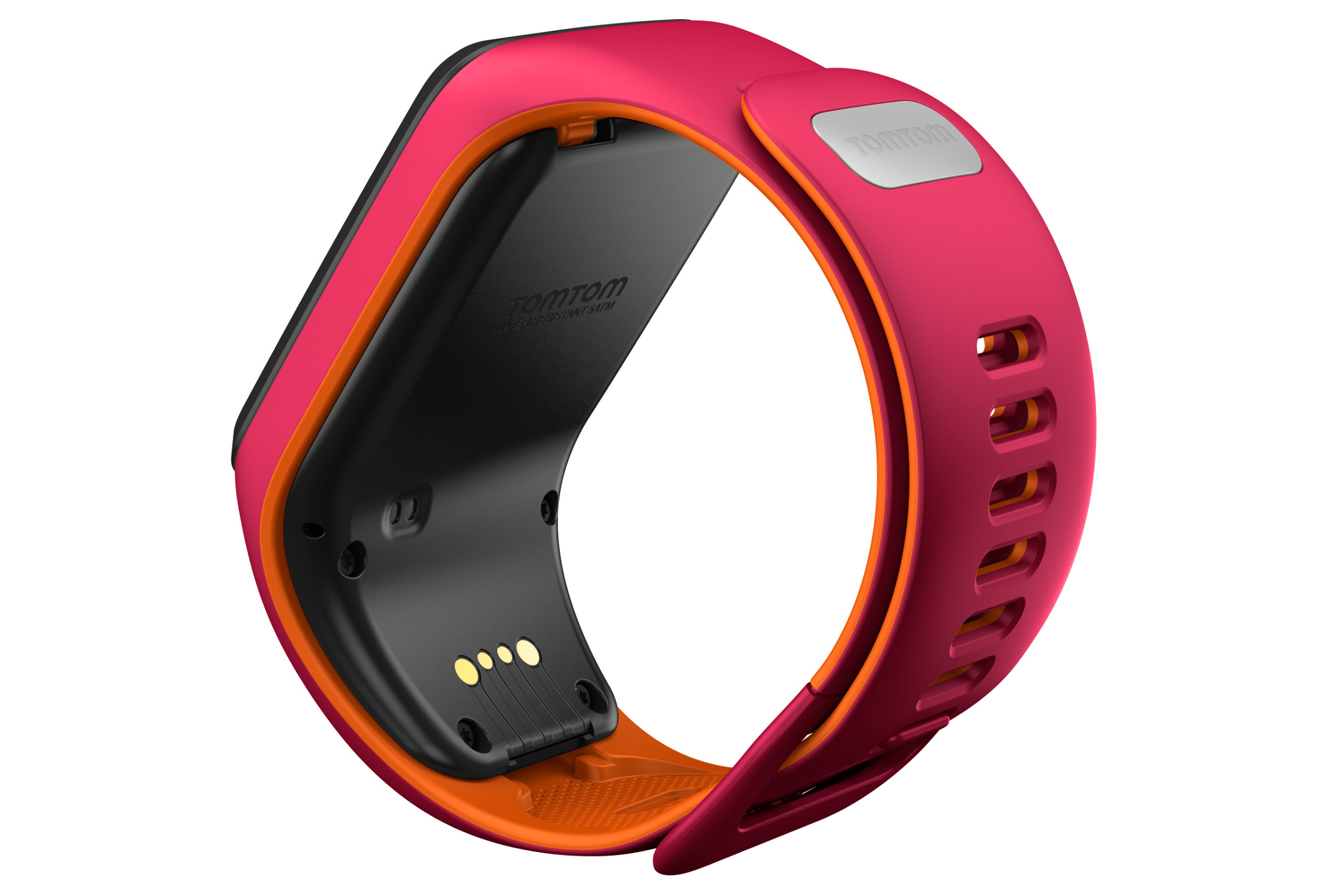 montre gps tomtom runner 3 bracelet fin rose orange. Black Bedroom Furniture Sets. Home Design Ideas