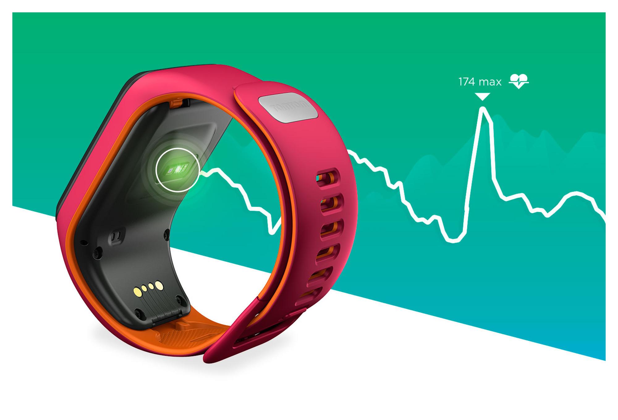montre de sport tomtom runner 3 cardio bracelet fin orange. Black Bedroom Furniture Sets. Home Design Ideas