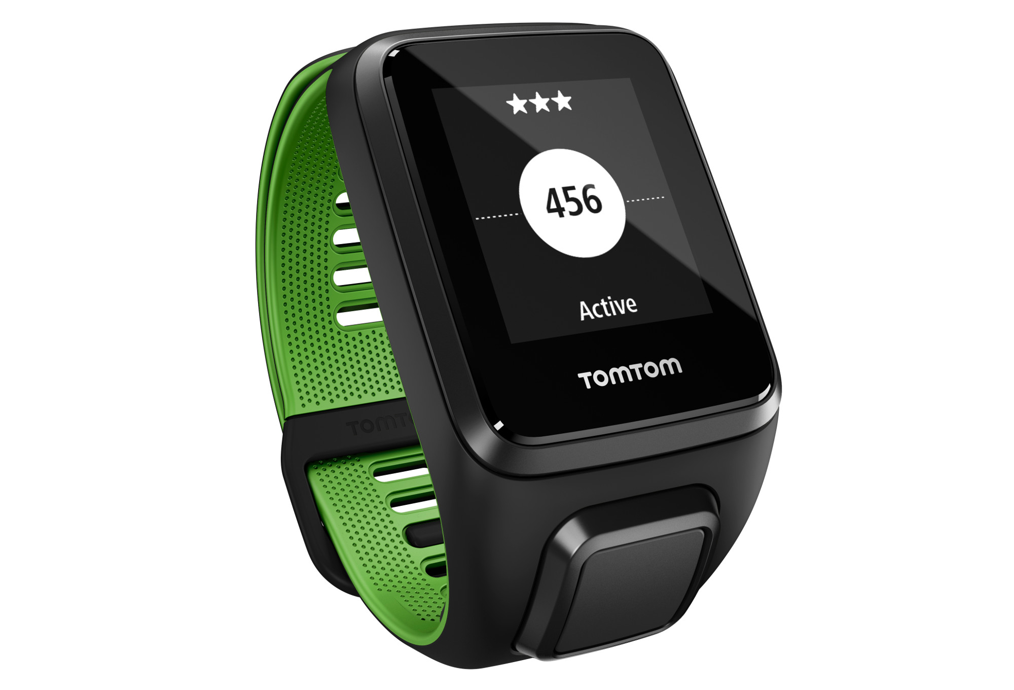 montre gps tomtom runner 3 cardio bracelet fin noir vert. Black Bedroom Furniture Sets. Home Design Ideas