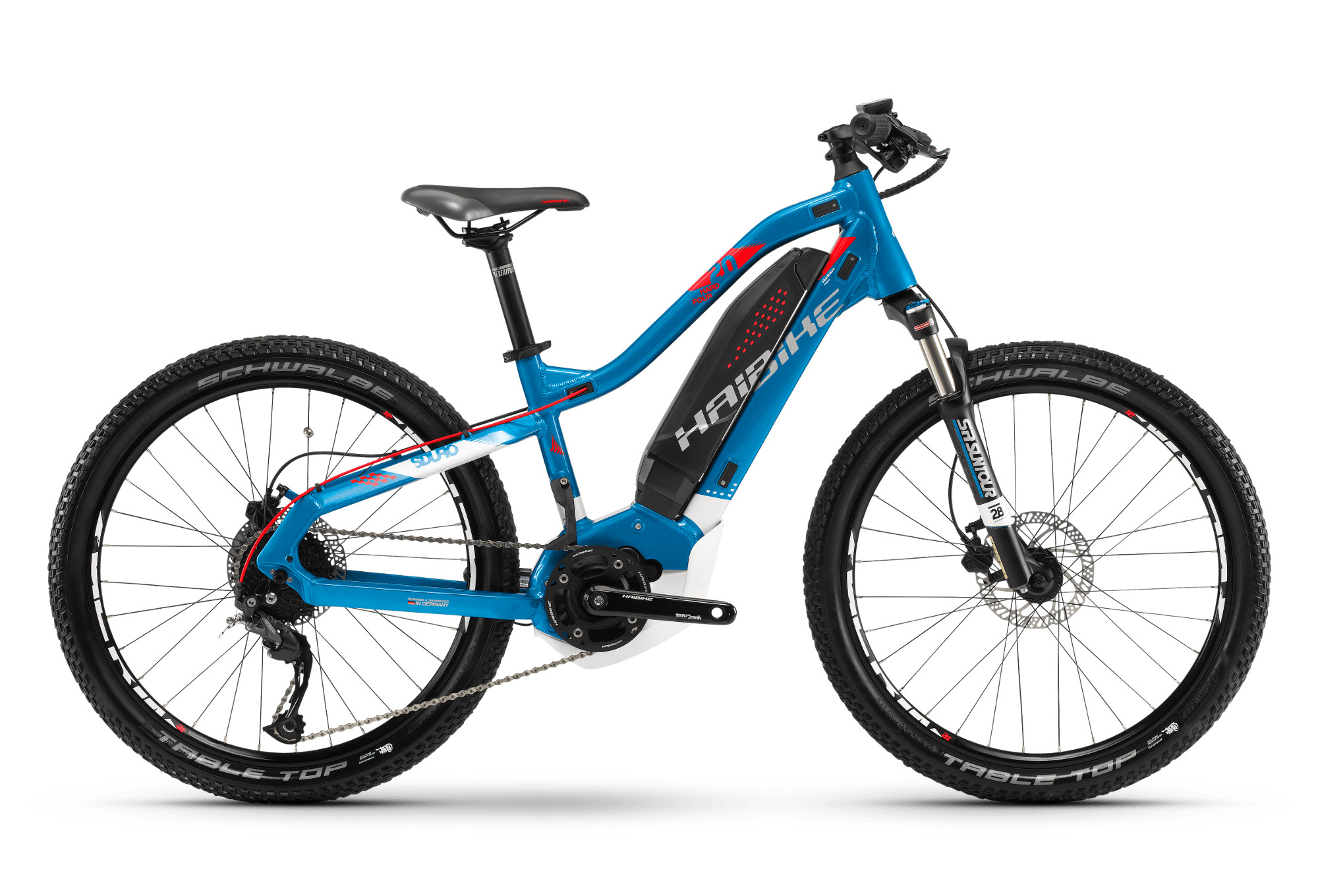 vtt electrique enfant haibike sduro hardfour 2 0 24 shimano altus 9v 2018 bleu blanc. Black Bedroom Furniture Sets. Home Design Ideas