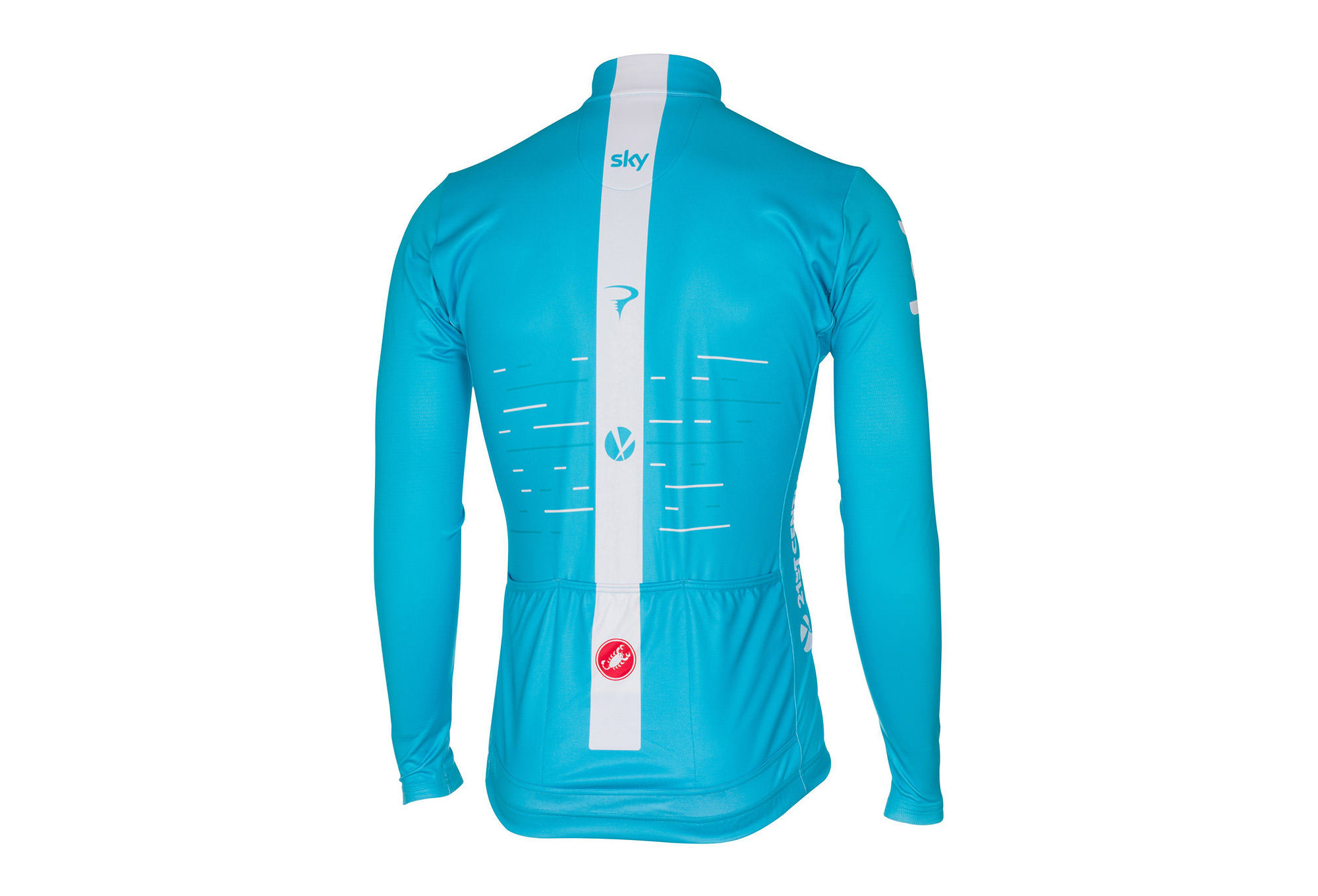 c0e07865d Castelli Thermal Sky Long Sleeves Jersey Blue