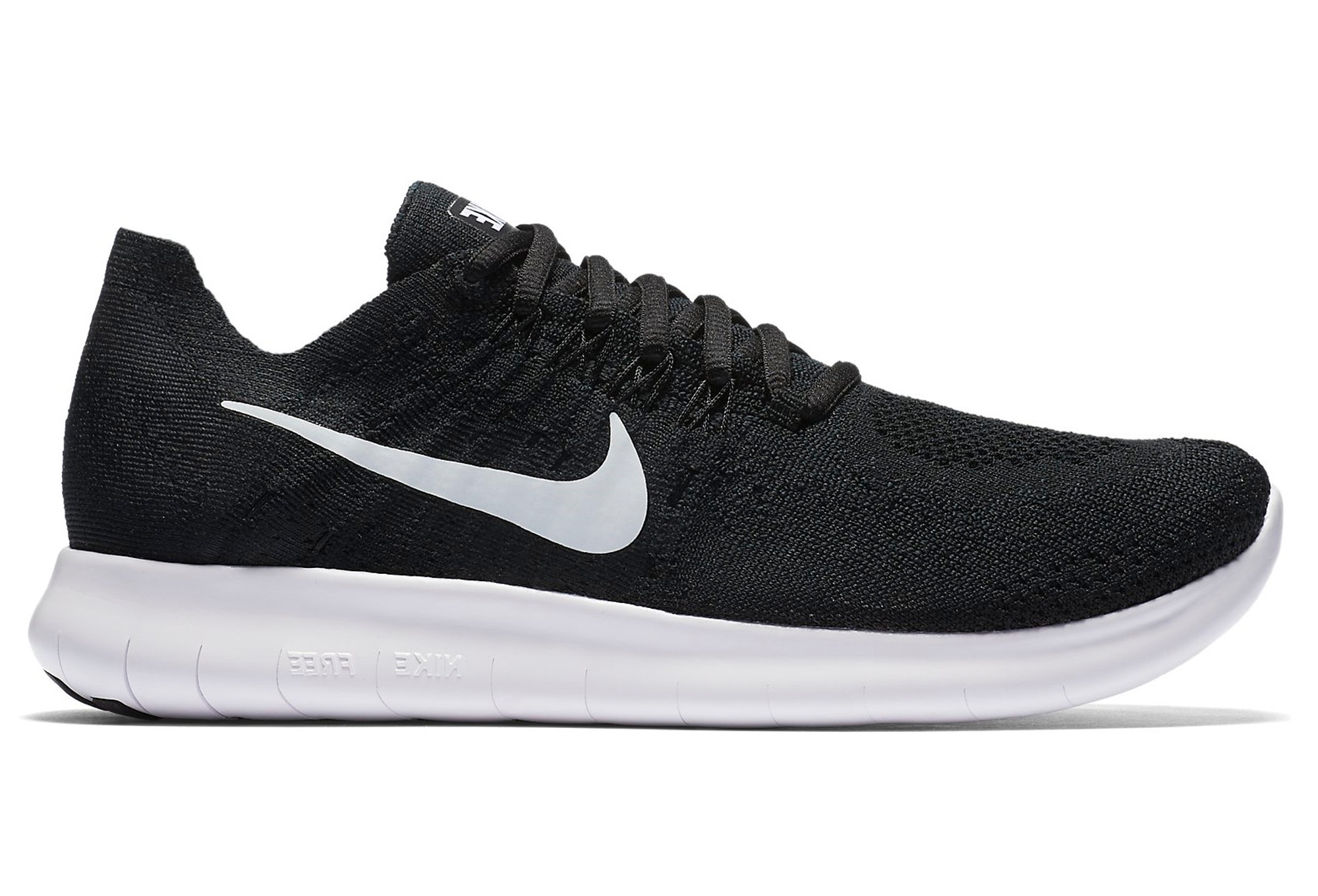 new style ad023 2db5e ... low price chaussures de running femme nike free rn flyknit 2017 blanc  noir 10743 c6f96
