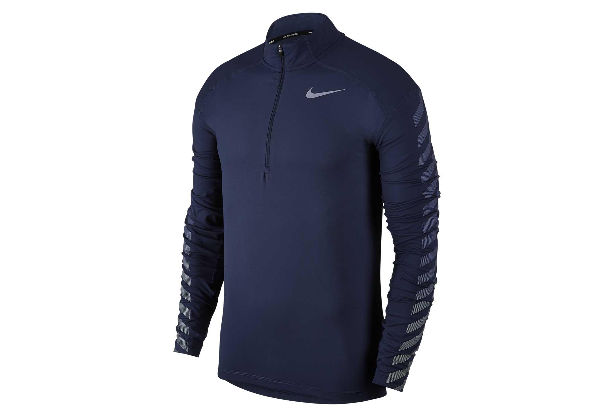 Bleu Element Nike Longues Manches Flash Homme Dry Maillot qPYzU