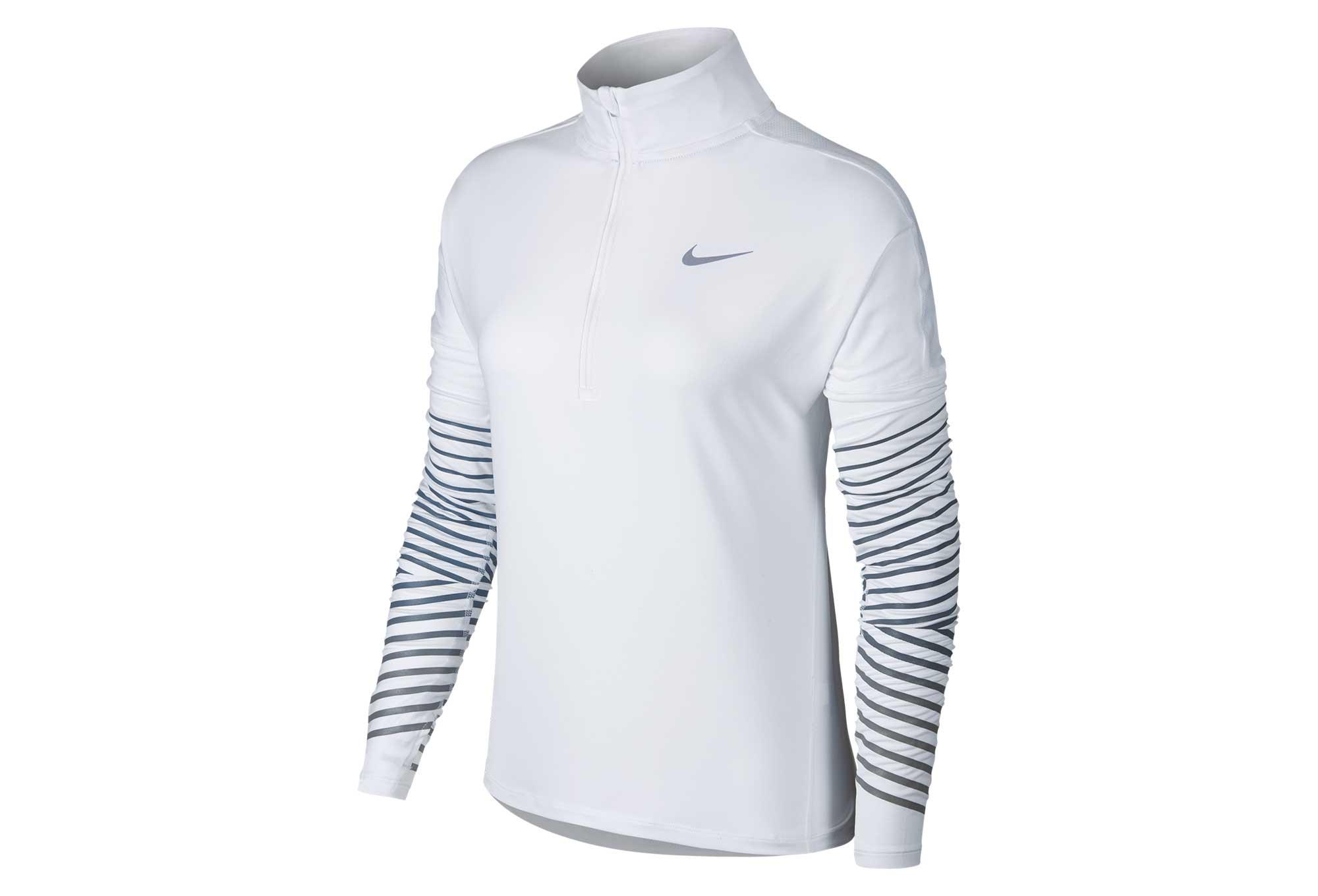 Haut Manches Longues Femme Nike Dry Element Flash Blanc  55b1398031d
