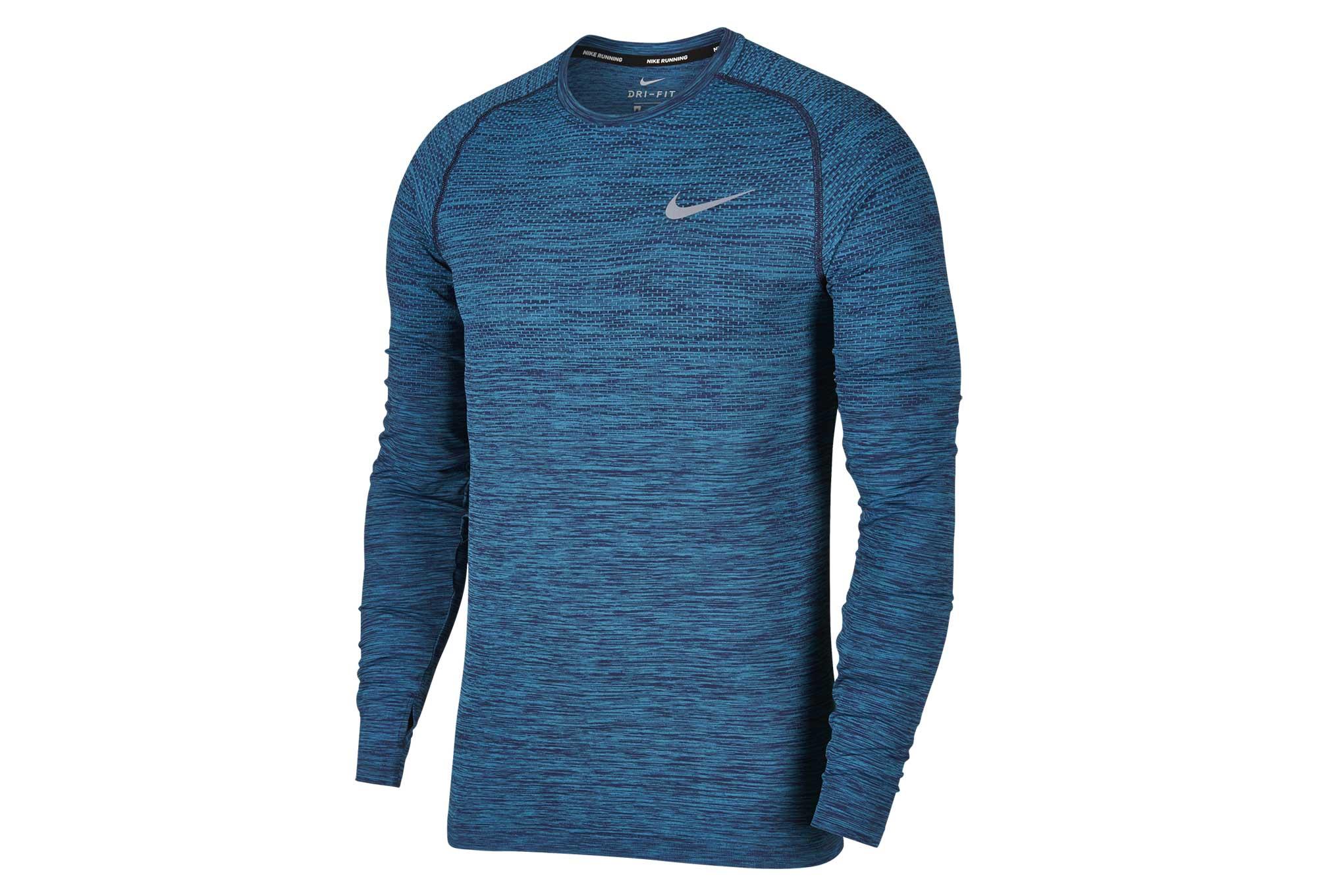 29a6e19c3 Nike Dri-Fit Knit Men's Top Blue | Alltricks.com