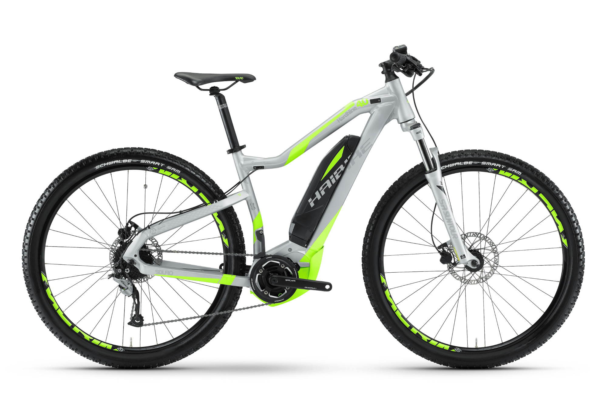 vtt lectrique haibike sduro hardnine 4 0 29 shimano acera 9v 400w argent vert. Black Bedroom Furniture Sets. Home Design Ideas
