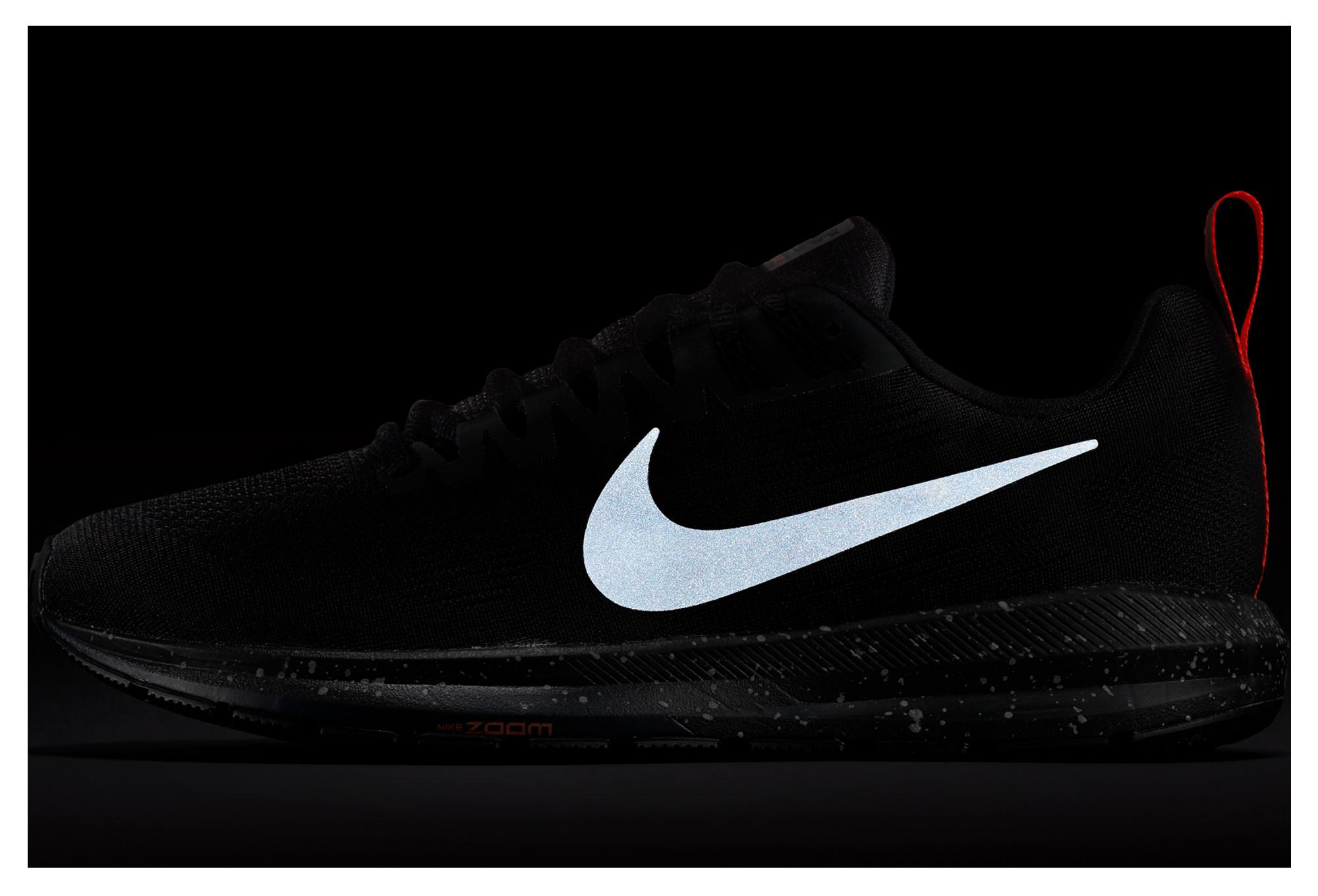 8943cb014ac Zapatillas de mujer Nike Air Zoom Structure 21 Shield negras ...