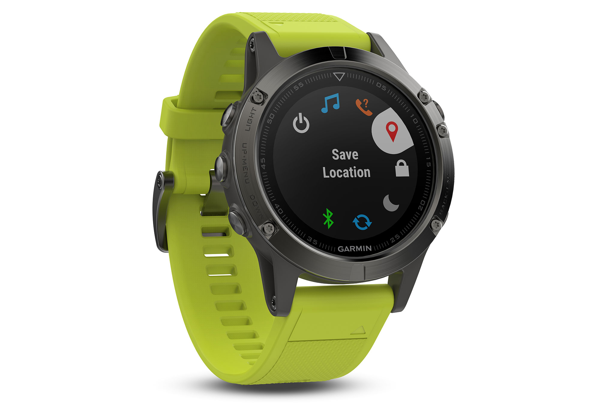montre gps garmin fenix 5 hr gris jaune. Black Bedroom Furniture Sets. Home Design Ideas