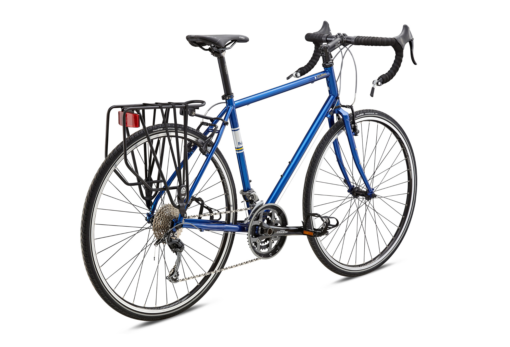 Travel Bike FUJI 2018 TOURING Shimano Alivio 9s Blue | Alltricks.com