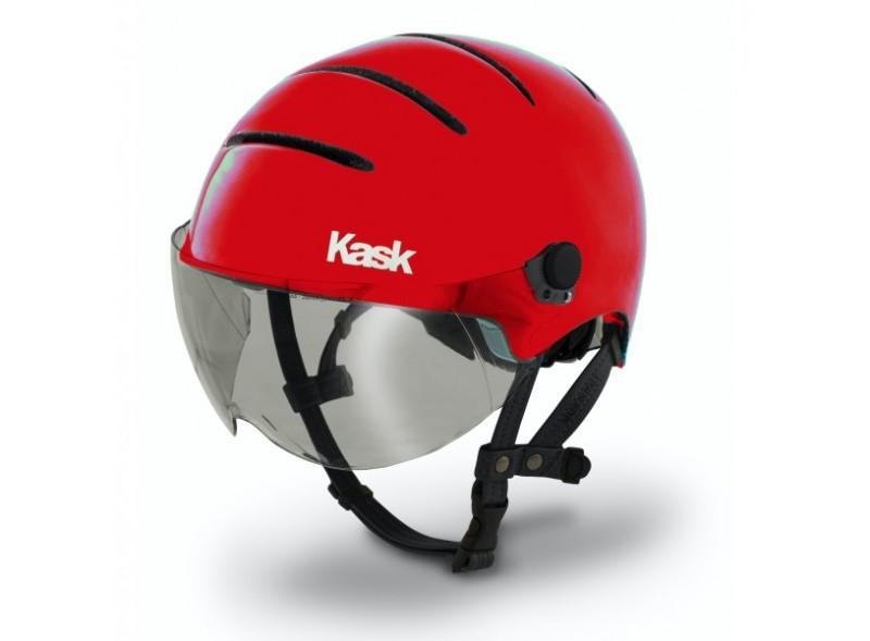 Casco citt kask casual rosso for Casco bici citta