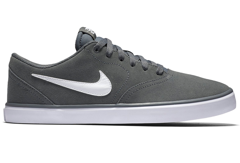 Nike SB Check Solarsoft Schuhe Grau Weiß