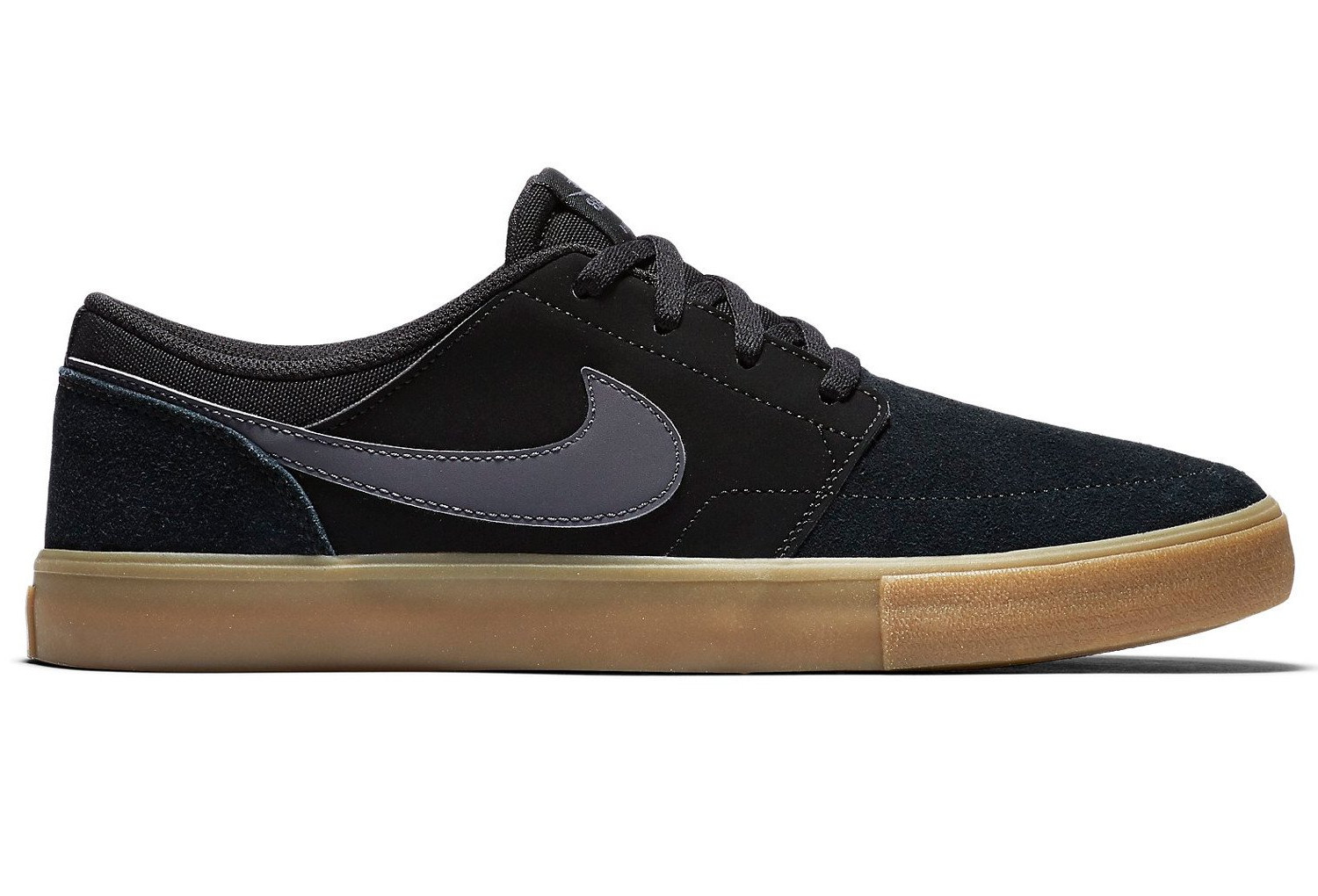 da8d21f01012 Nike SB Solarsoft Portmore II Shoes Black Gum