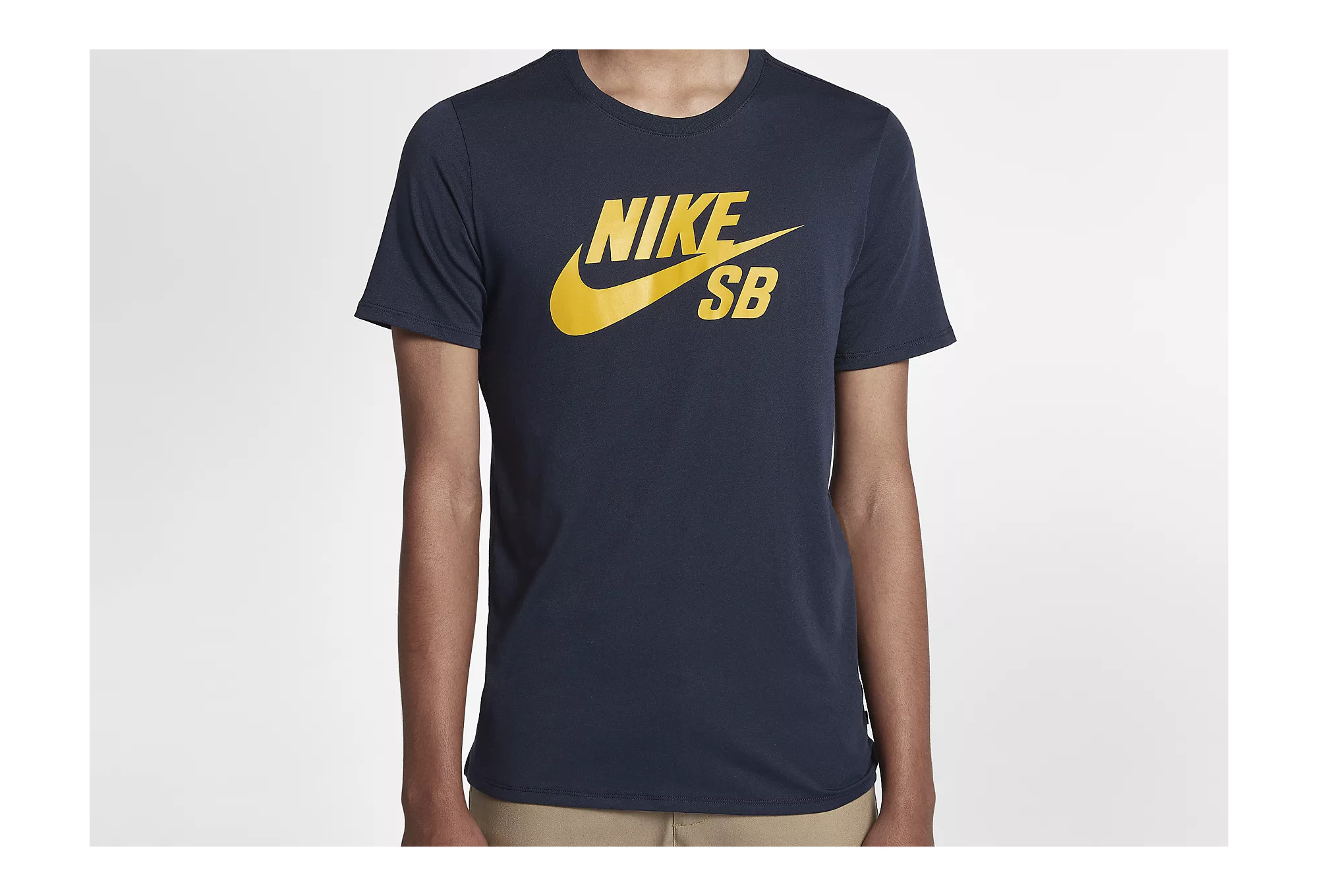 cheaper shopping cheapest price Nike SB Logo T-Shirt Schwarz Gelb