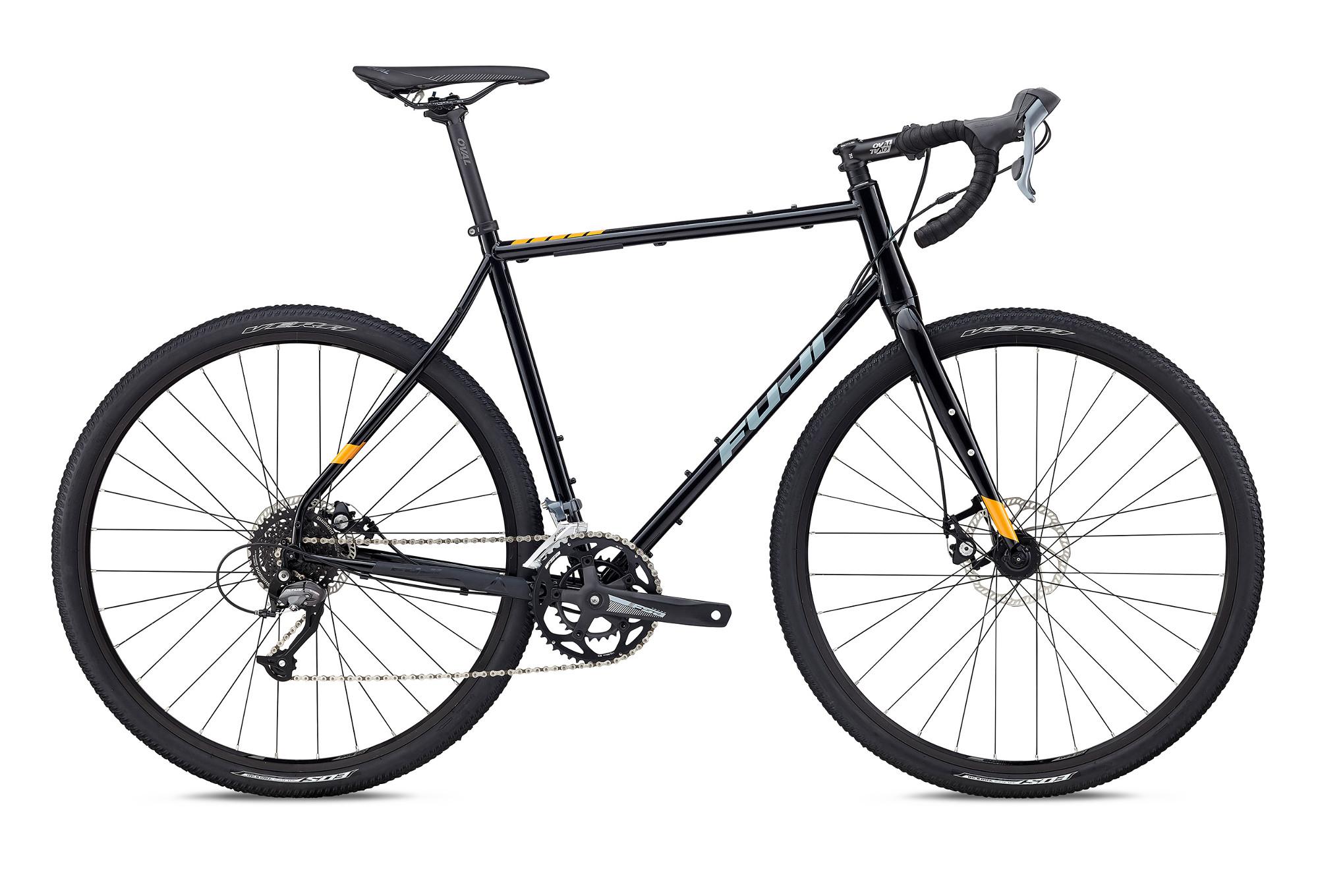 Gravel Bike FUJI 2018 JARI STAHL 2.5 Shimano Claris 8s Schwarz ...