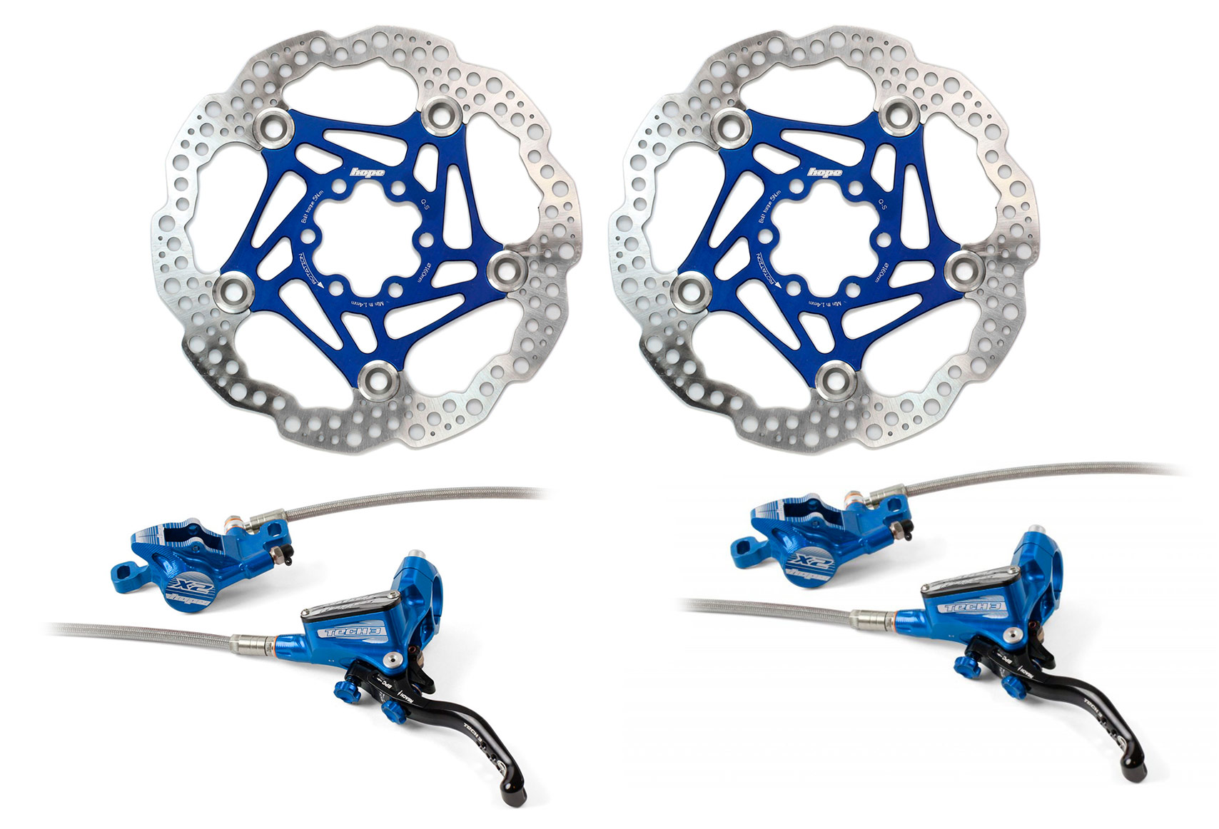 couleur bleue Un connecteur 90° pour frein Hope