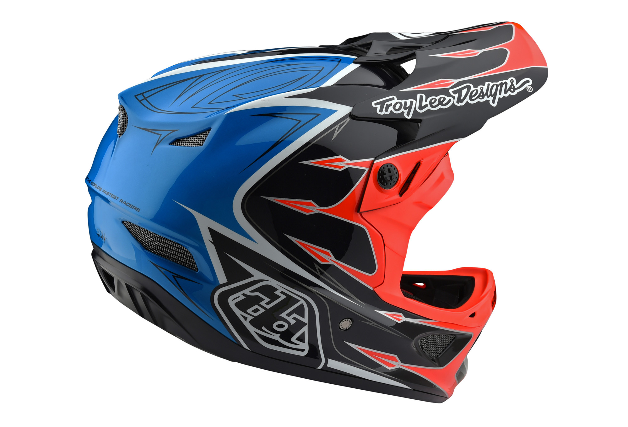 Troy Lee Designs D3 Composite Corona Bicycle Helmet Orange//Blue