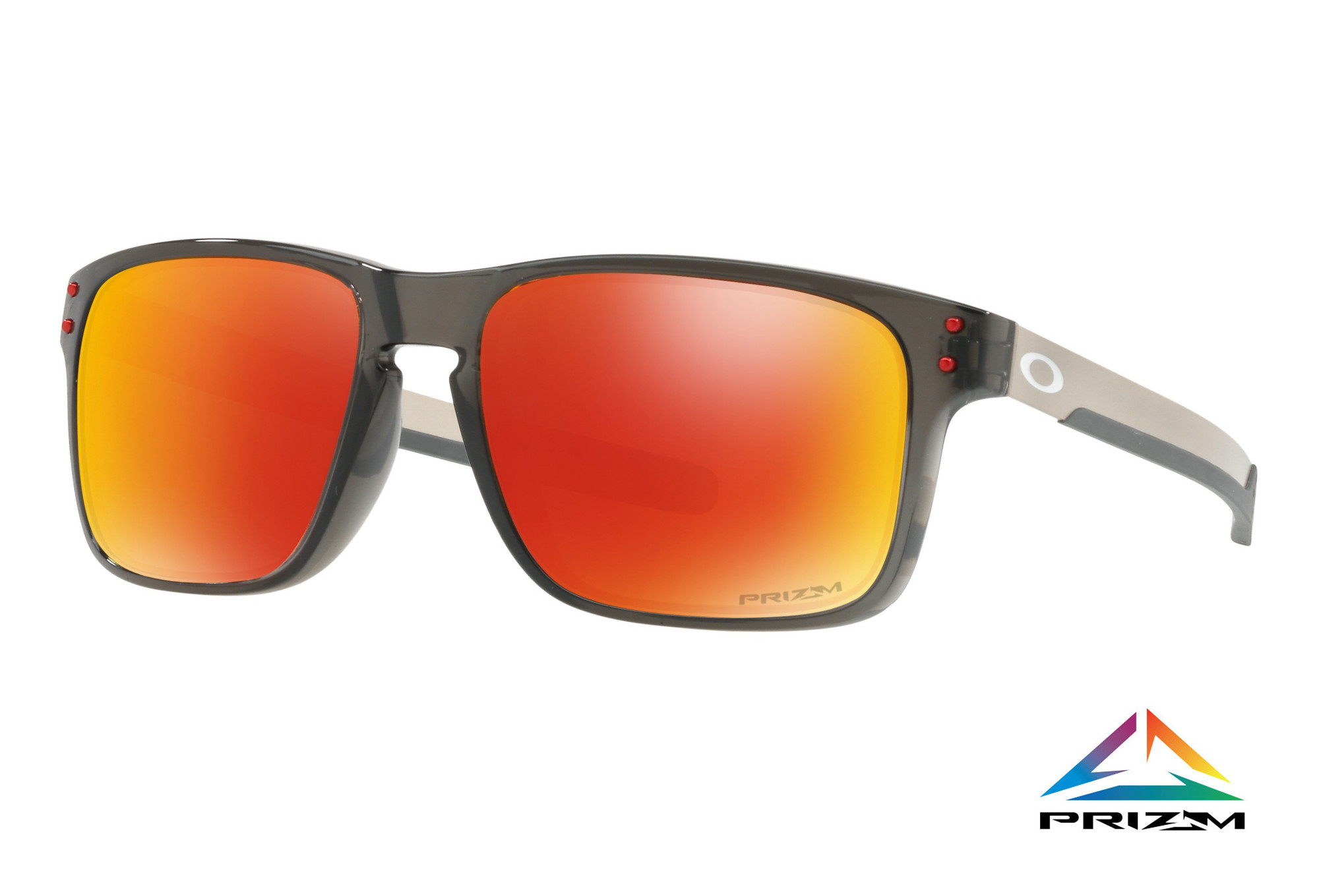 52147005f4b OAKLEY Sunglasses Holbrook Mix Grey Smoke Prizm Ruby Polarized Ref  OO9384-0757