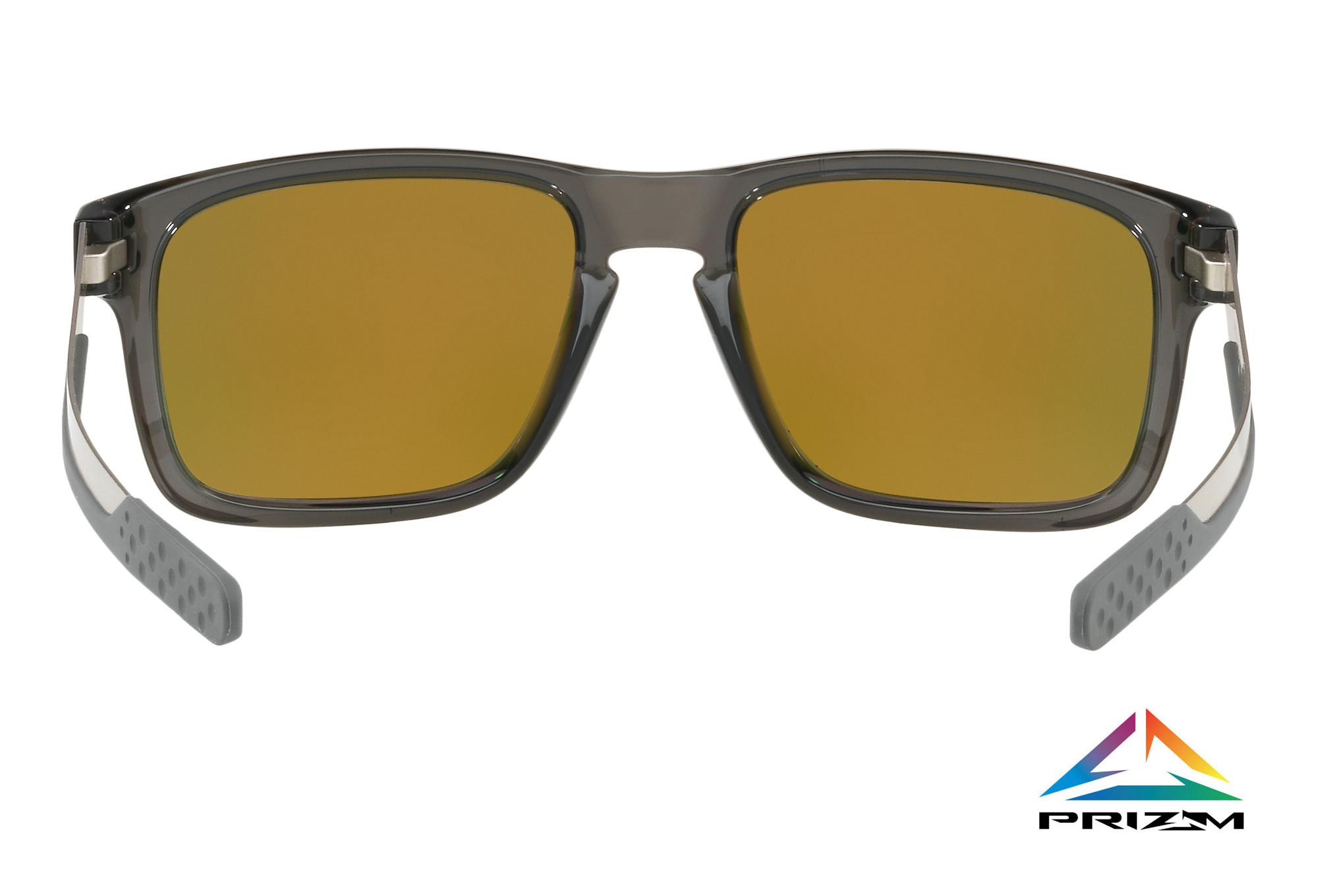 145e4182ce OAKLEY Sunglasses Holbrook Mix Grey Smoke Prizm Ruby Polarized Ref   OO9384-0757