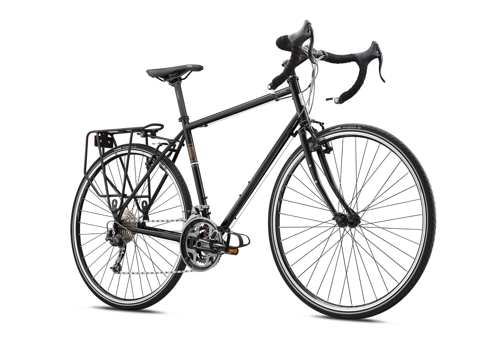 Travel Bike FUJI 2018 TOURING Shimano Alivio 9s Black | Alltricks.com