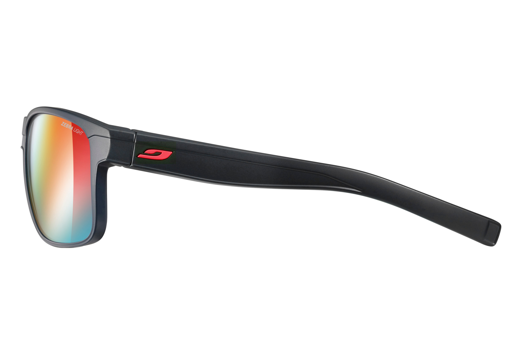 1197c3af81 Julbo Renegade Sunglasses Zebra Light Black - Red