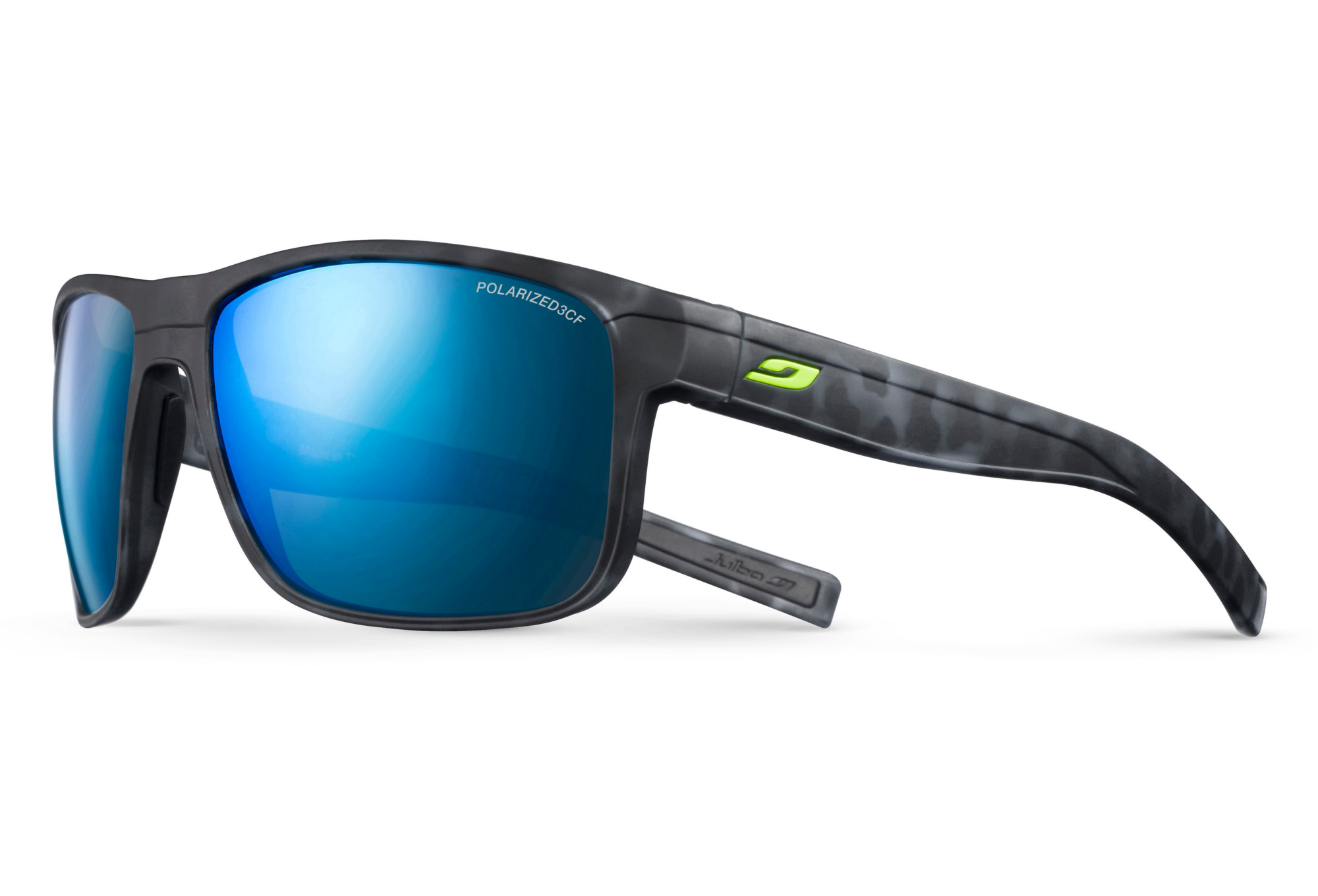 477e58429623 Julbo Renegade Sunglasses Polarized 3CF Black - Blue