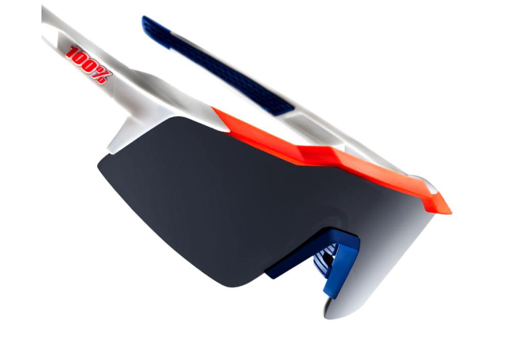 109ce24fd1 100% Sunglasses SPEEDCRAFT SL - Soft Tact Gamma Ray - Smoke Mirror ...