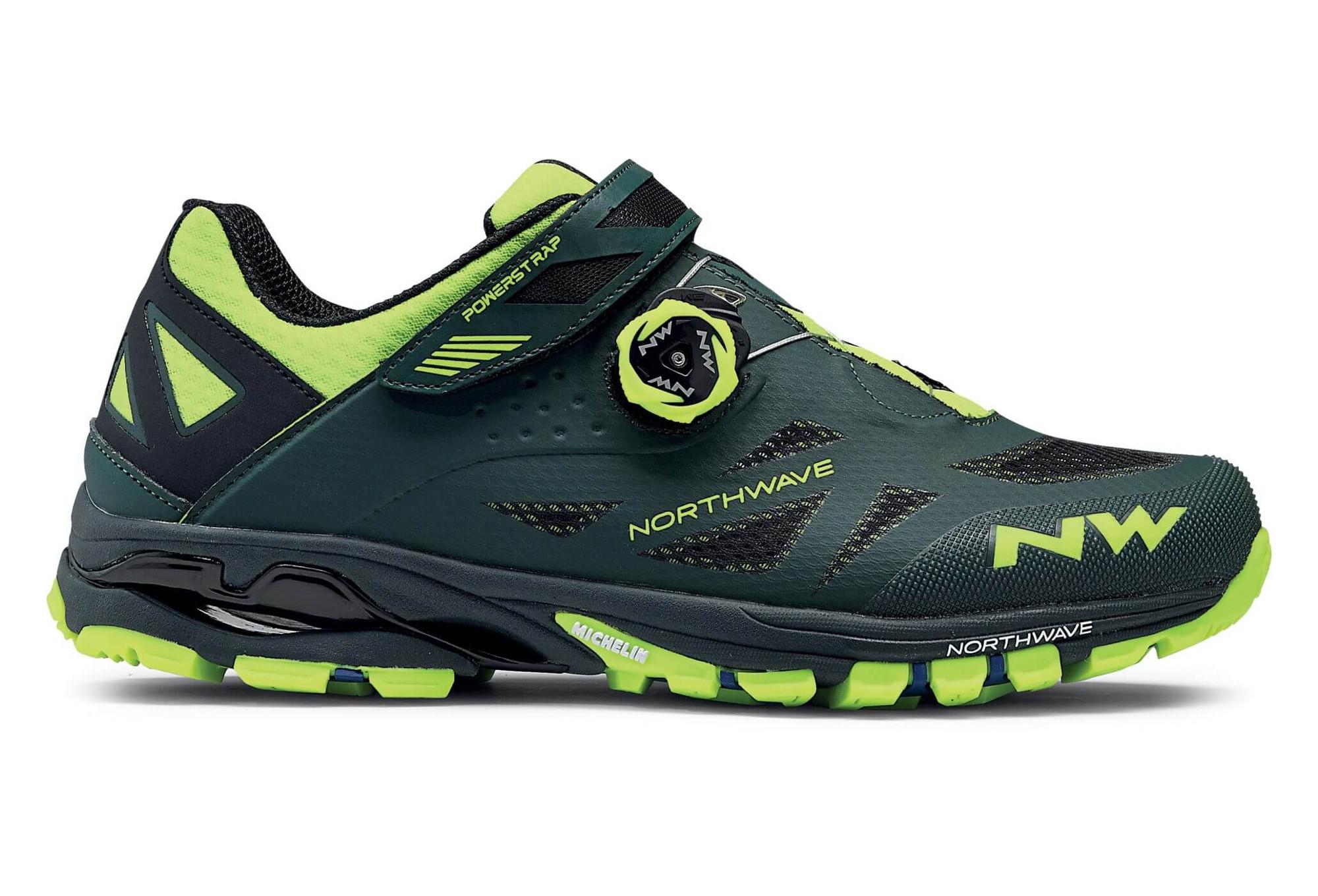 81553429ca2 Chaussures VTT Northwave Spider Plus 2 Vert Jaune