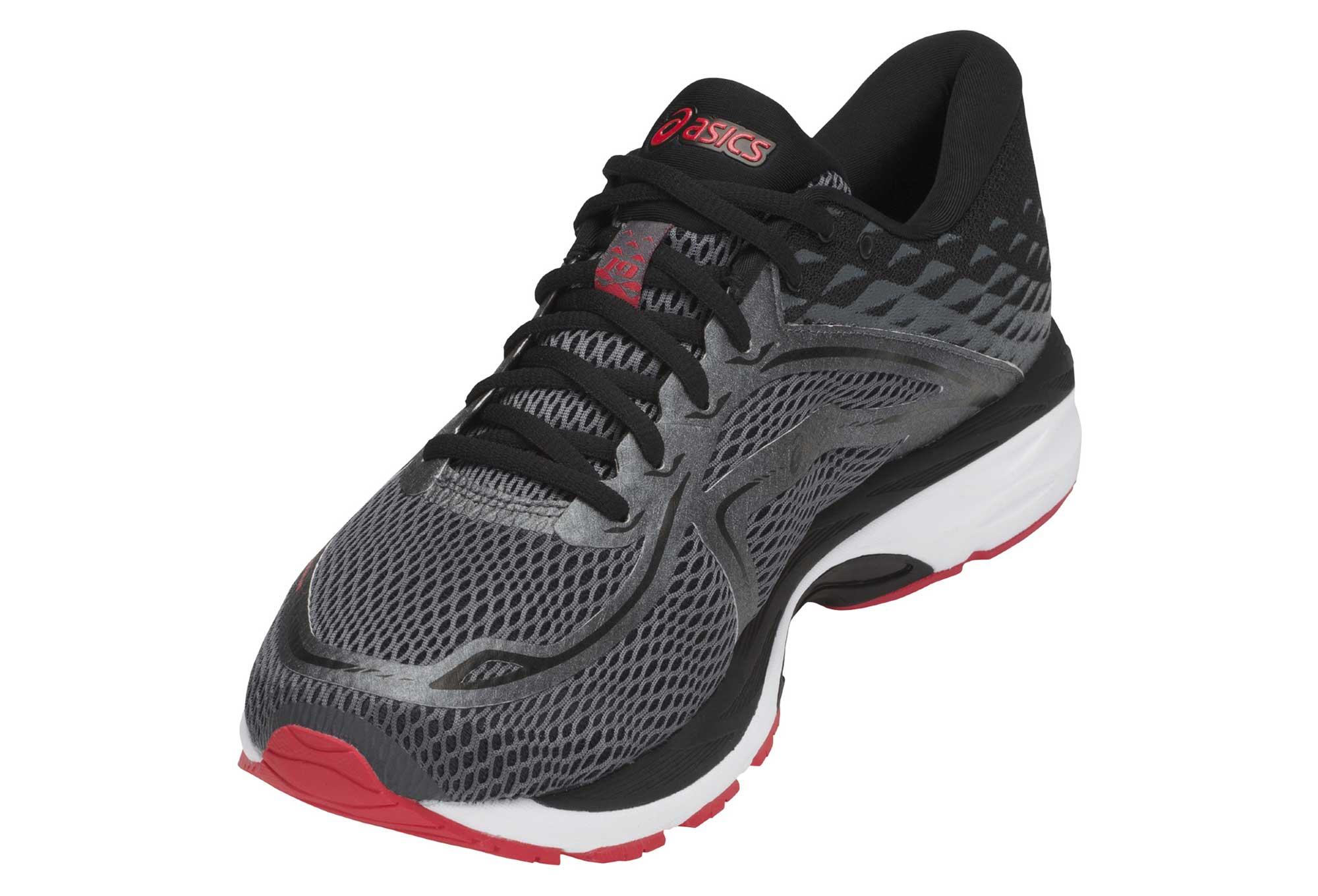 Chaussures de Running Asics Gel Cumulus 19 Gris Rouge
