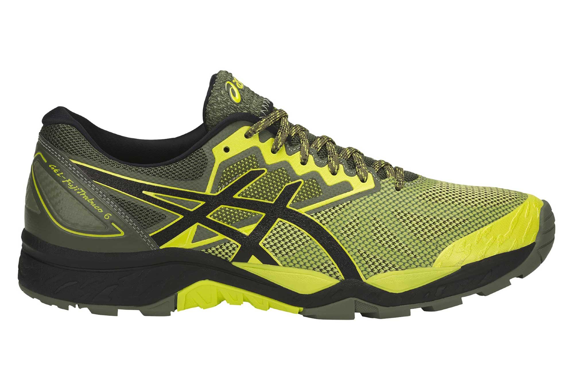 Chaussures de Running Asics Gel Fujitrabuco 6 Jaune Noir