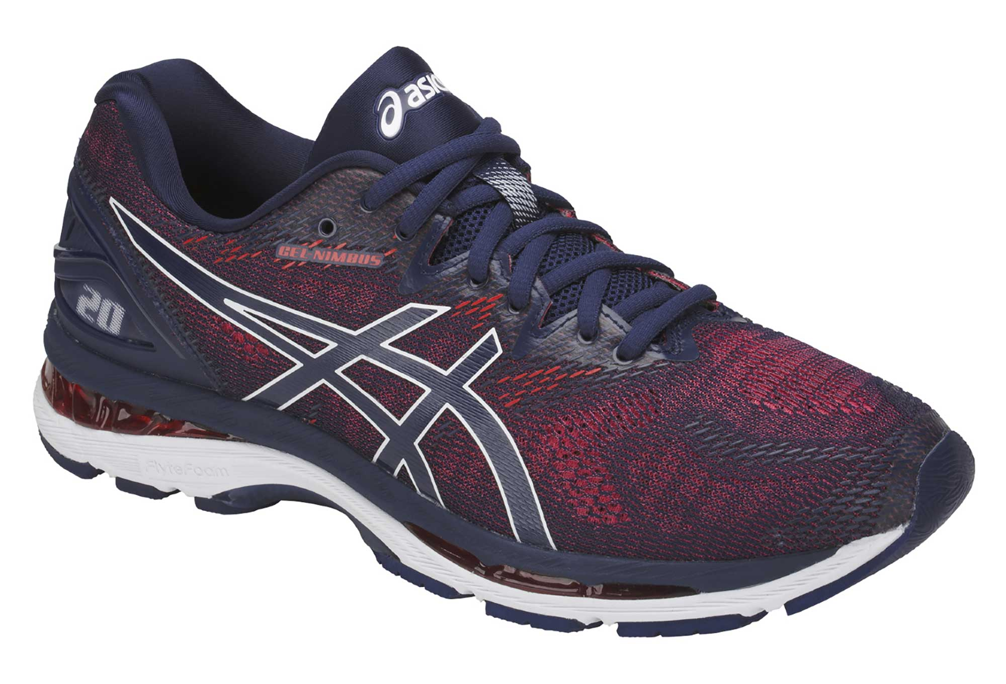 asics gel nimbus 20 blue red. Black Bedroom Furniture Sets. Home Design Ideas