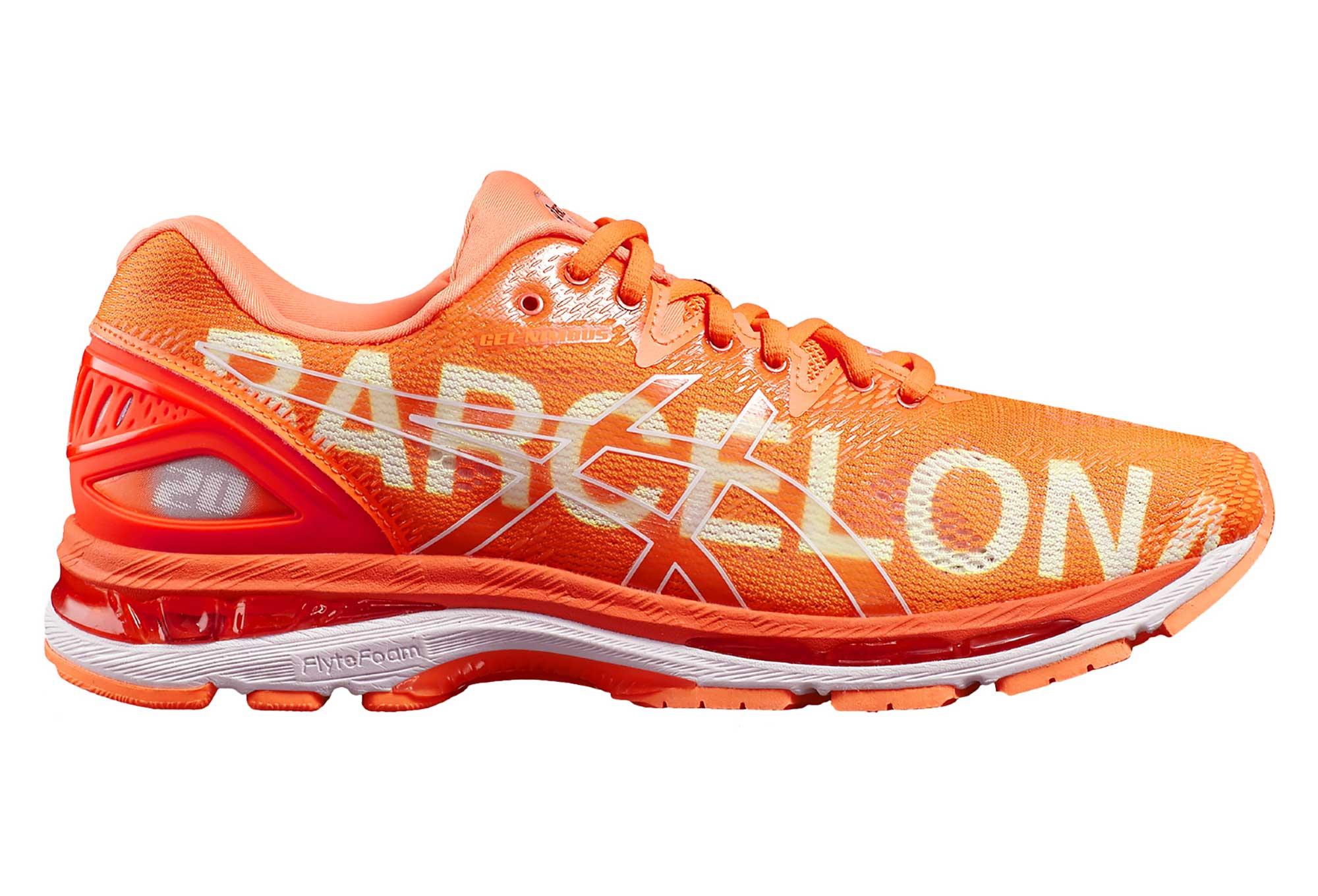 f6ebc6d7ae465 Zapatillas Asics Gel-Nimbus 20 Barcelona Marathon para Hombre Naranja    Blanco