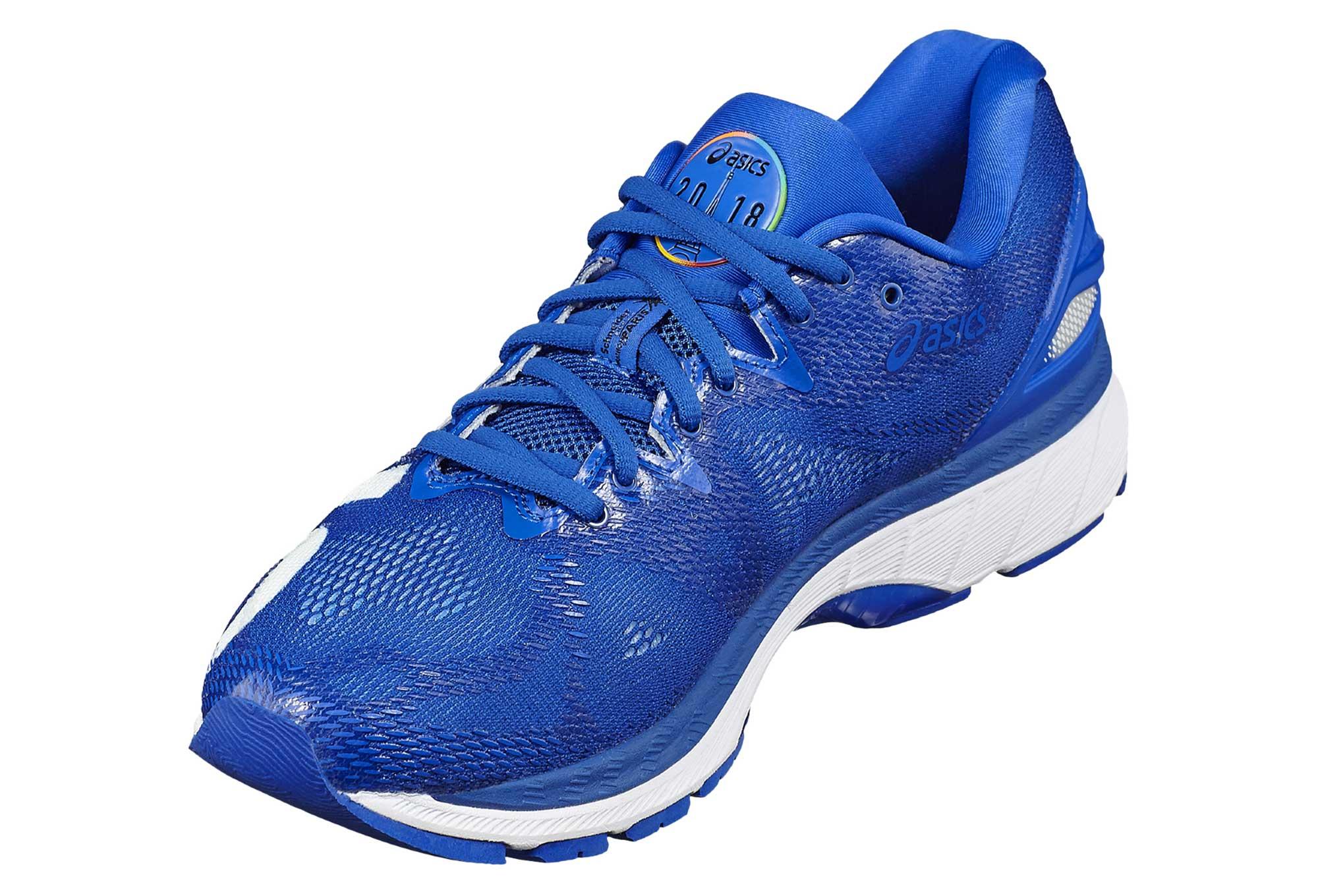 d36d7b66bd5 Chaussures de Running Asics Gel-Nimbus 20 Paris Marathon Bleu   Blanc