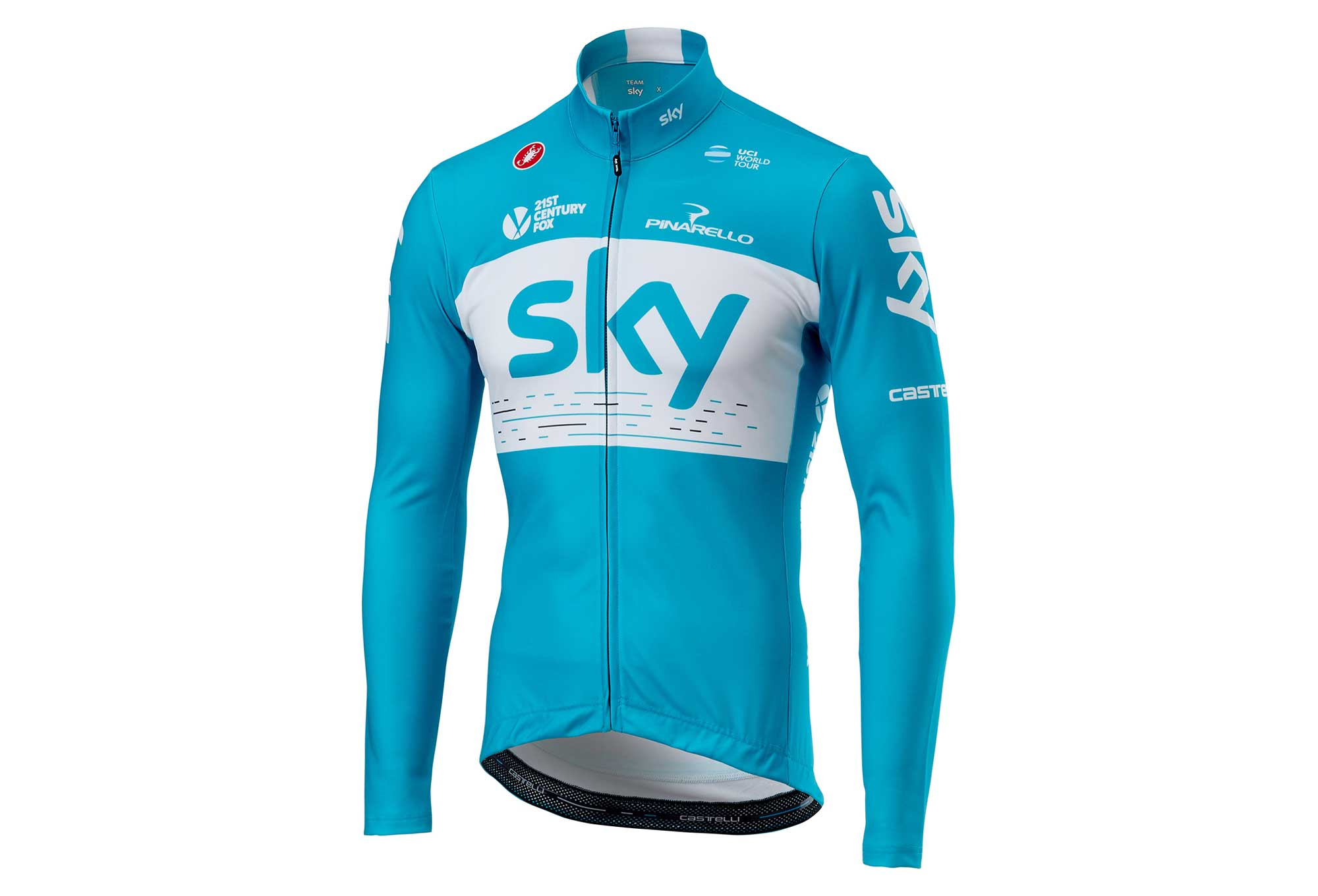 Castelli Thermal Team Sky Long Sleeves Jersey Blue  d52a6d020