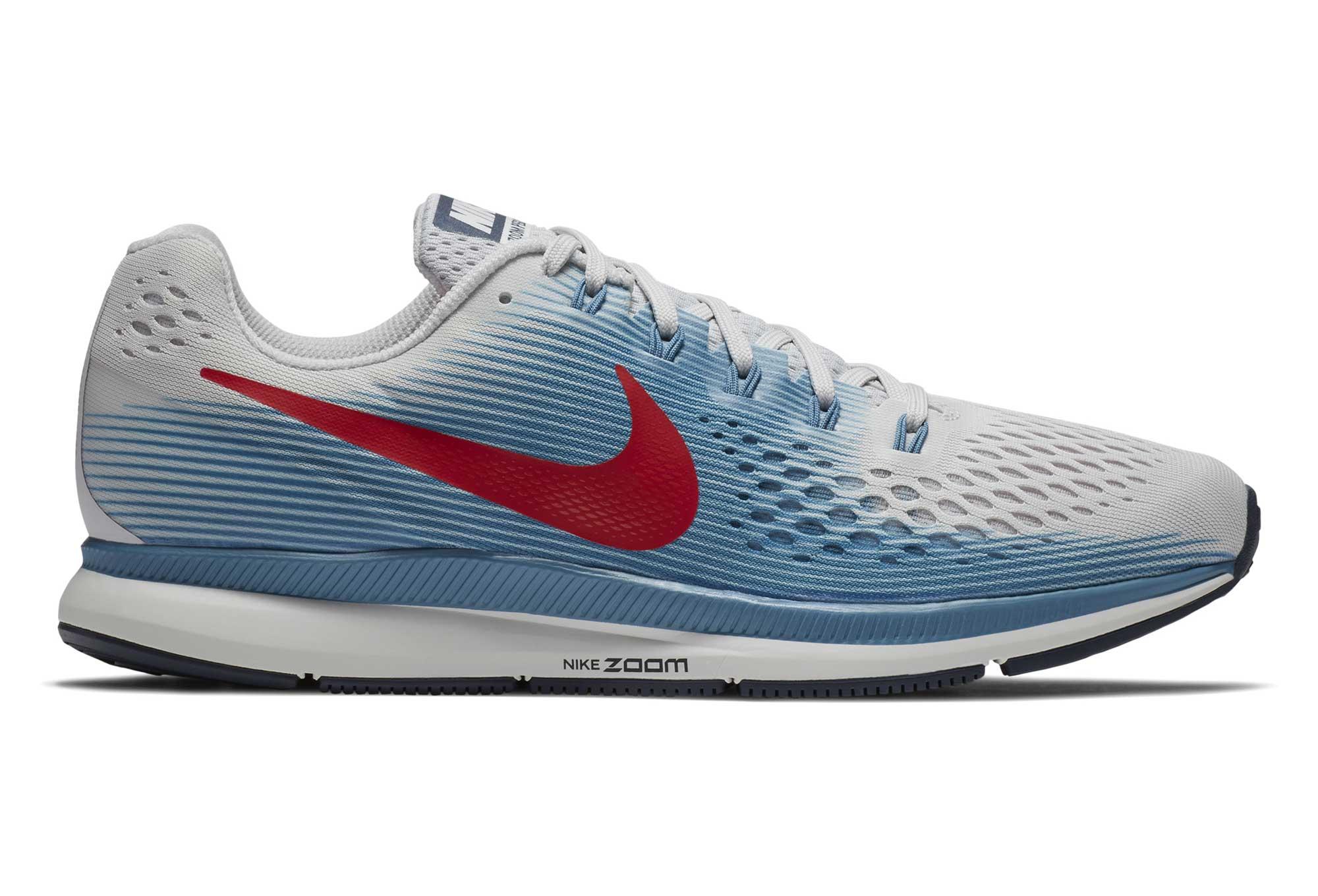 half off 106f5 ee743 Nike Air Zoom Pegasus 34 Grey Blue Red
