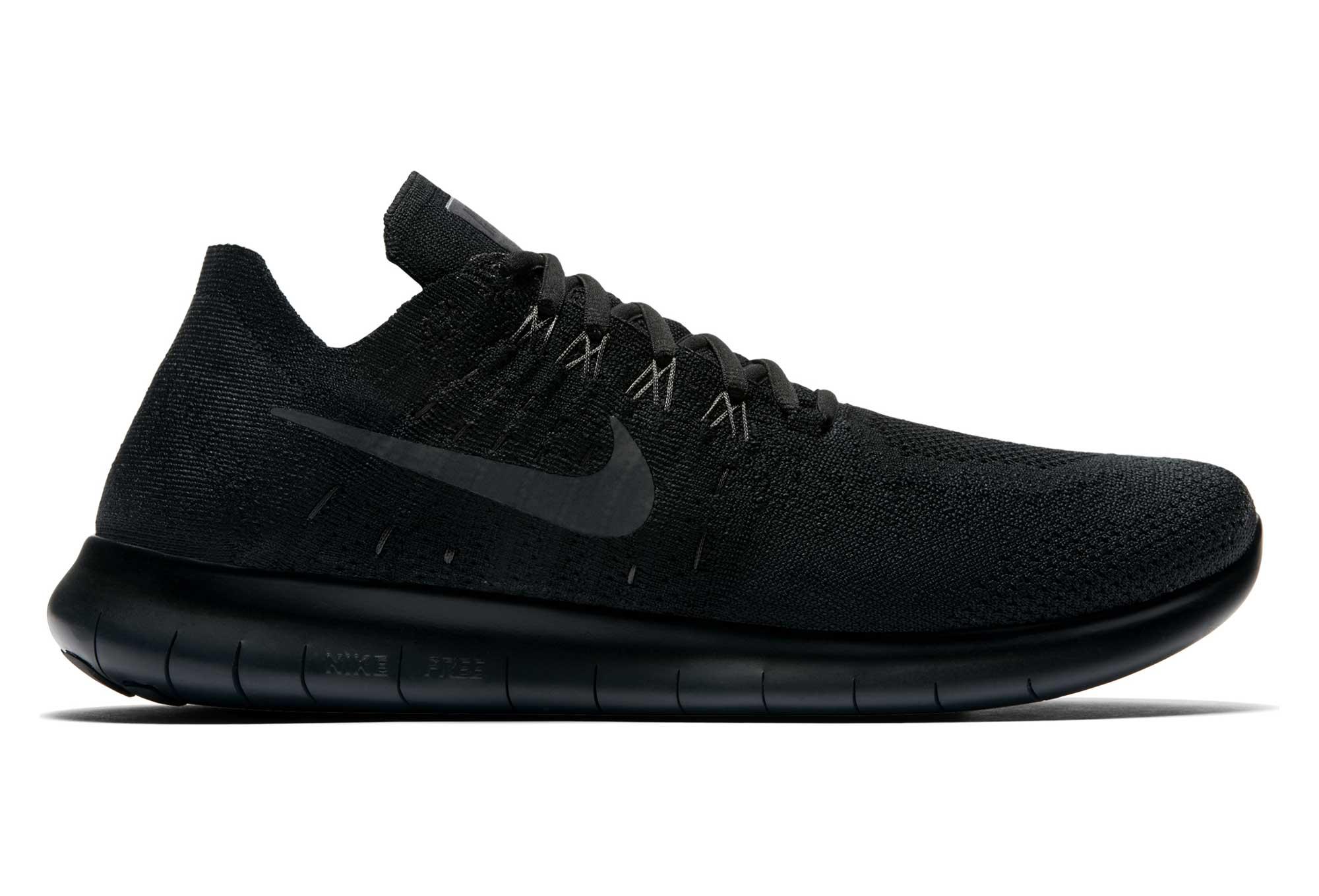 Chaussures de Running Femme Nike Free RN Flyknit 2017 Noir Gris Anthracite