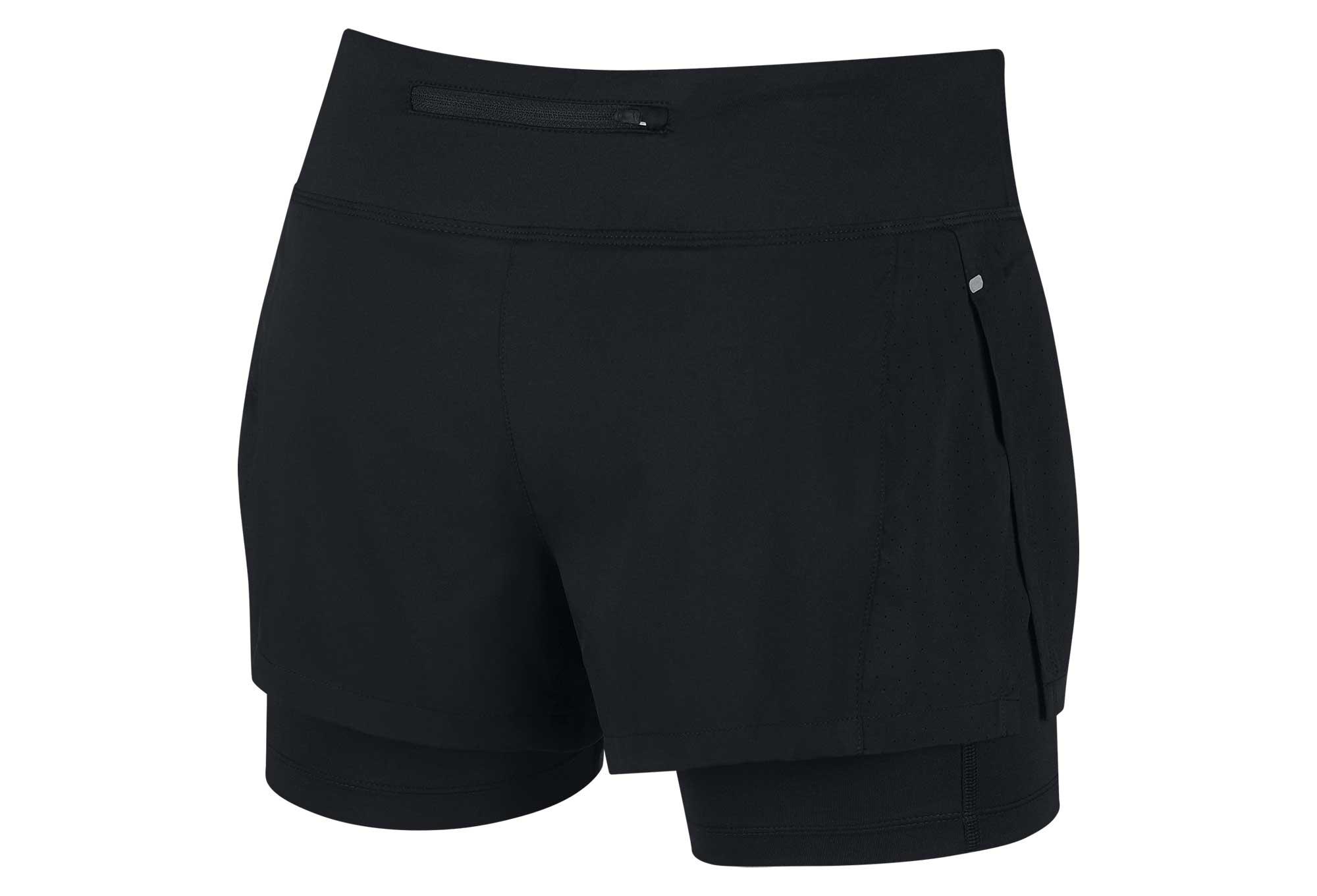 Short 2 en 1 Femme Nike Eclipse Noir