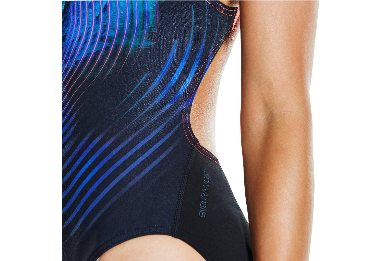 maillot de bain femme speedo stormflow bleu. Black Bedroom Furniture Sets. Home Design Ideas
