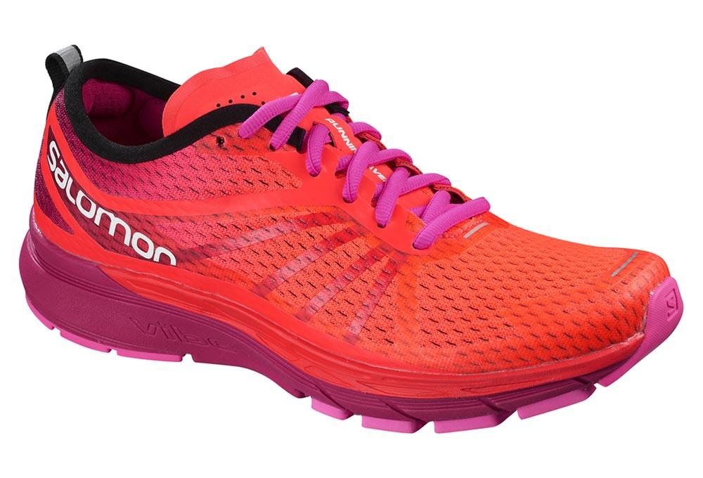 Running Rose – Salomon Sonic femmes chaussures de running Femme Rose