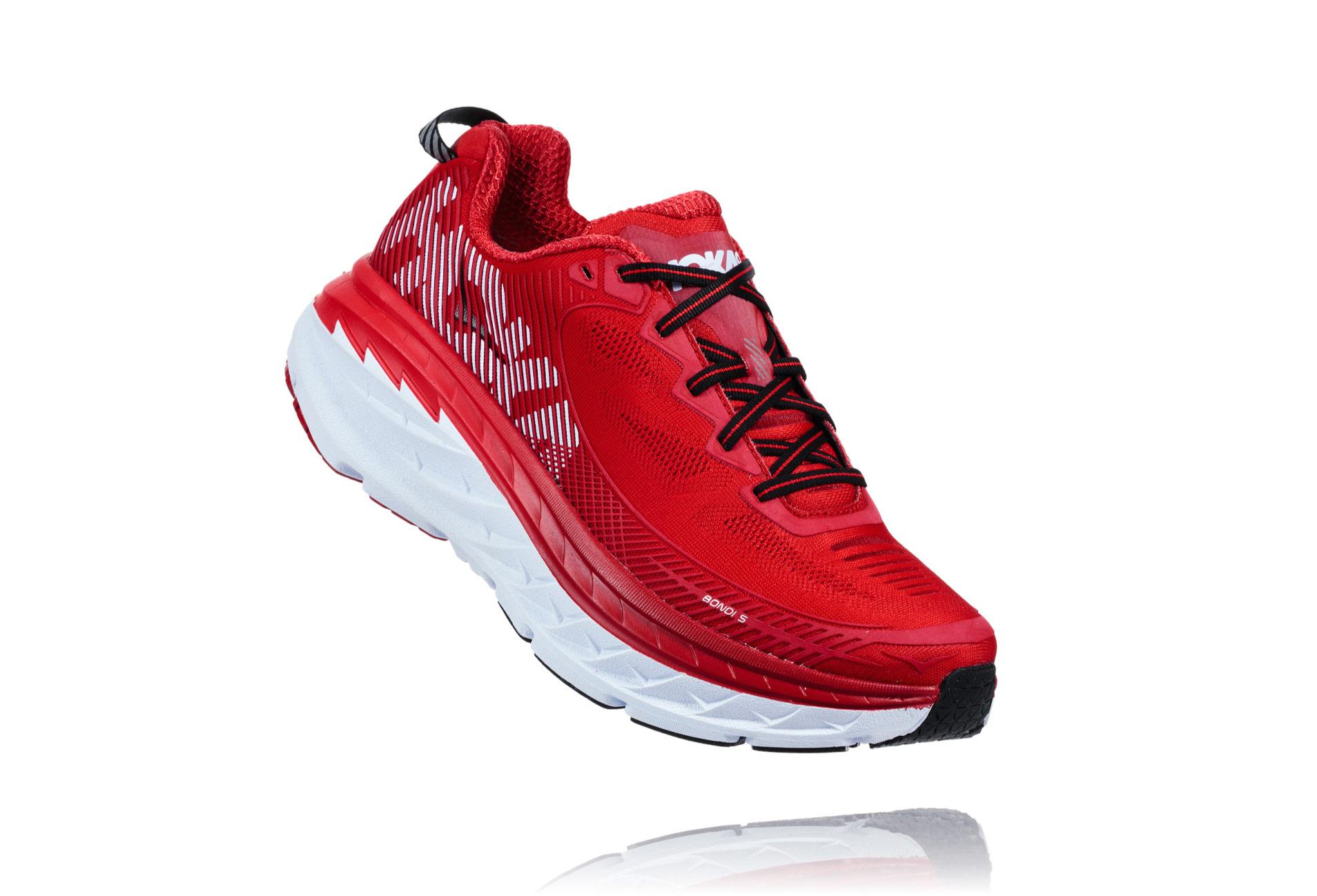 HOKA BONDI 5 Chaussures - Homme - Rouge - 44 2/3 vlXttM2Z