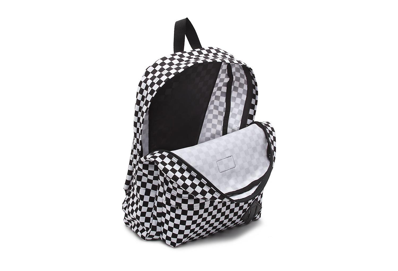 sac dos vans old skool check noir blanc. Black Bedroom Furniture Sets. Home Design Ideas