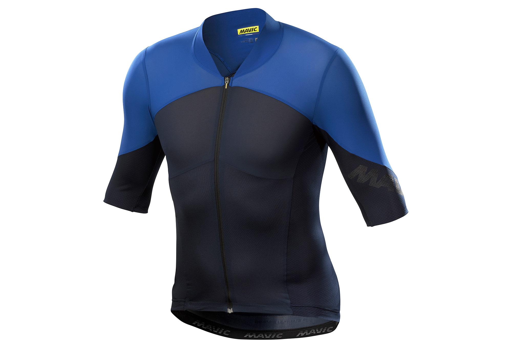 1e851486f Mavic 2018 Cosmic Ultimate SL Short Sleeves Jersey Black Blue ...