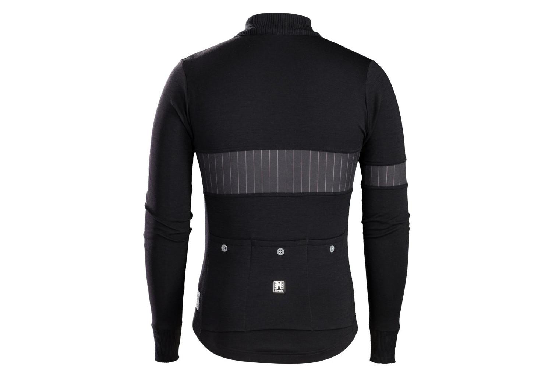 Trek by Santini Icon Wool Long Sleeves Jersey Team Trek-Segafredo Black  17bb03190