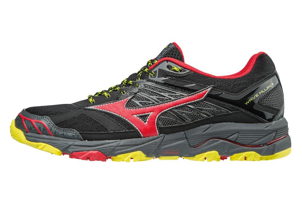 separation shoes 91f55 1a62a Chaussures de Trail Mizuno Wave Mujin 4 Noir   Jaune   Rouge