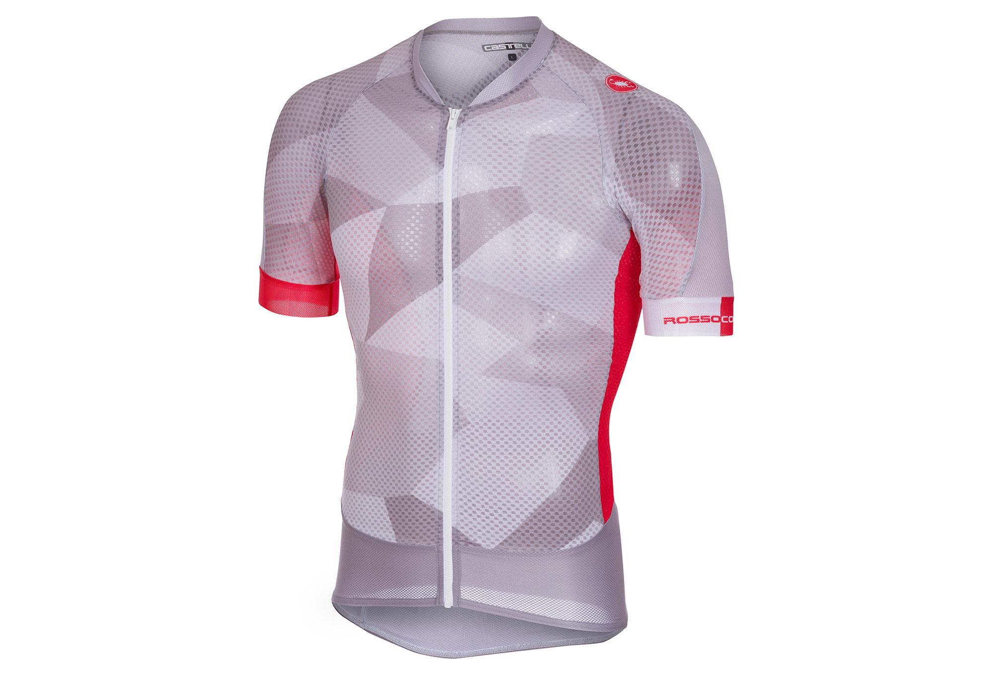 Castelli 2018 Climber s 2.0 Short Sleeves Jersey Grey Red ... 40b540ff2
