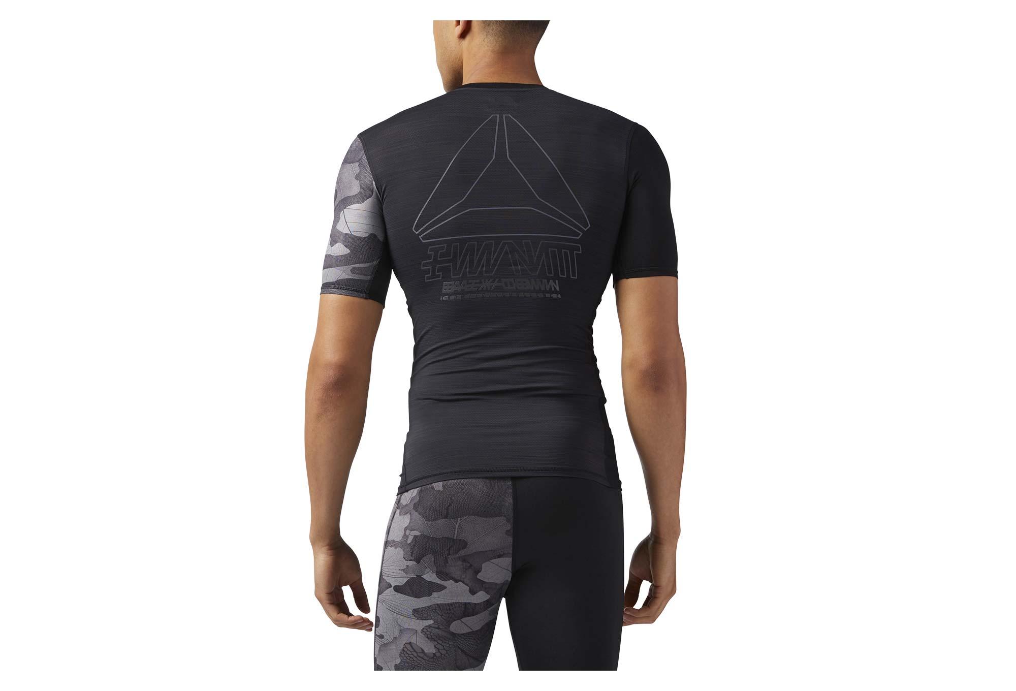 promoción especial fábrica nueva productos Reebok ACTIVChill Graphic Compression Short Sleeves Jersey Black ...