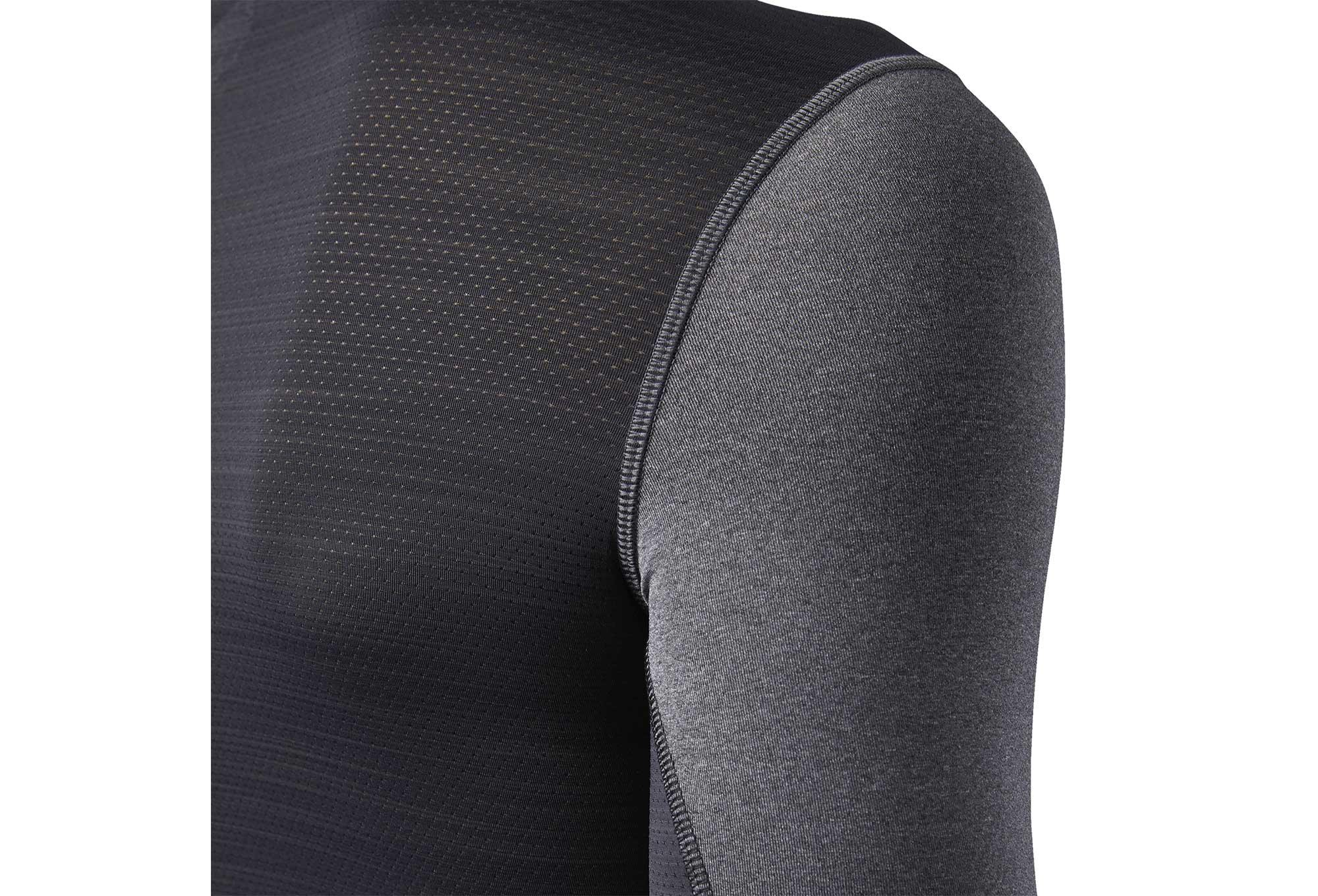 8a470ba75ca1 Reebok ACTIVChill Graphic Compression Long Sleeves Jersey Grey Black Camo