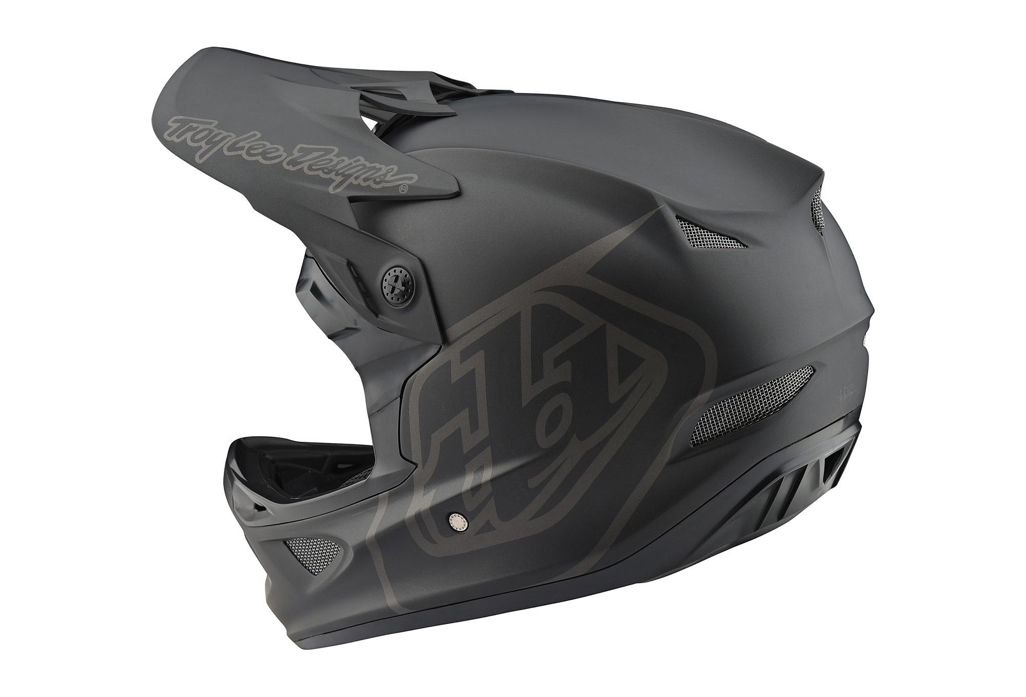 Troy Lee Designs Helmet >> Troy Lee Designs D3 Fiberlite Mono Helmet Black